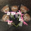 Piruletas de chocolate con nombre coruña
