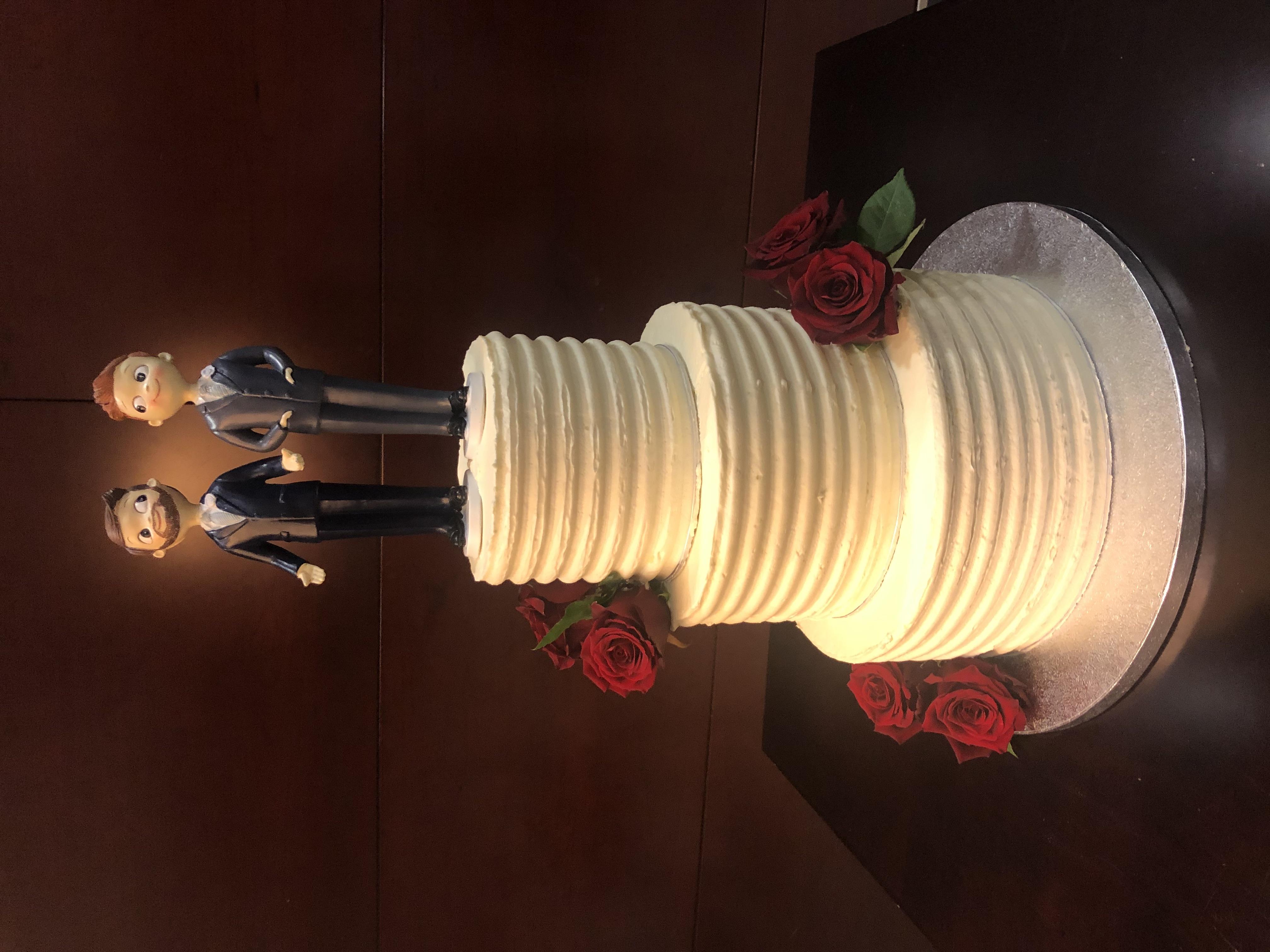 tarta boda coruña flores personalizada bonita