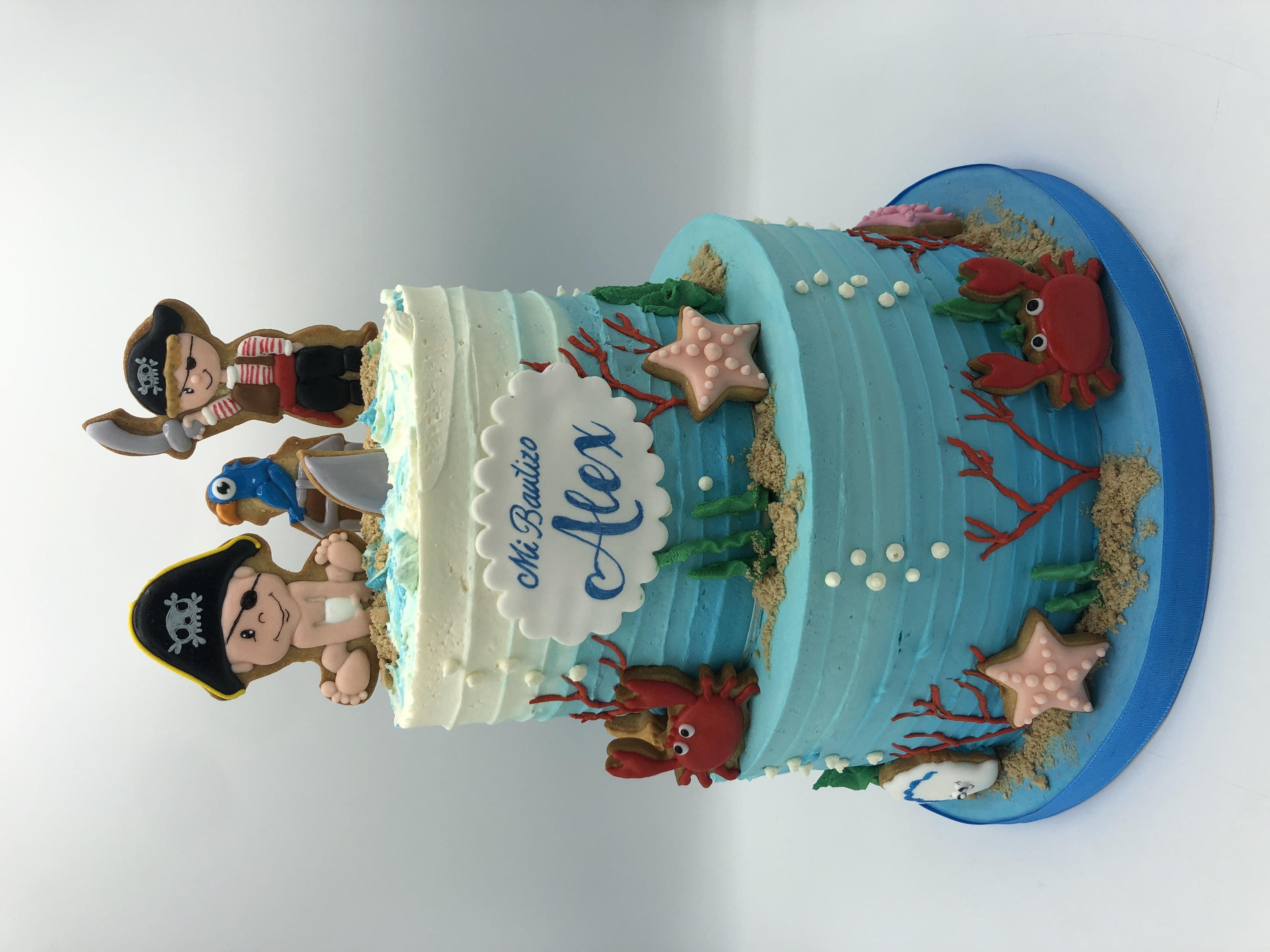 tarta bautizo coruña pirata personalizada cumpleaños