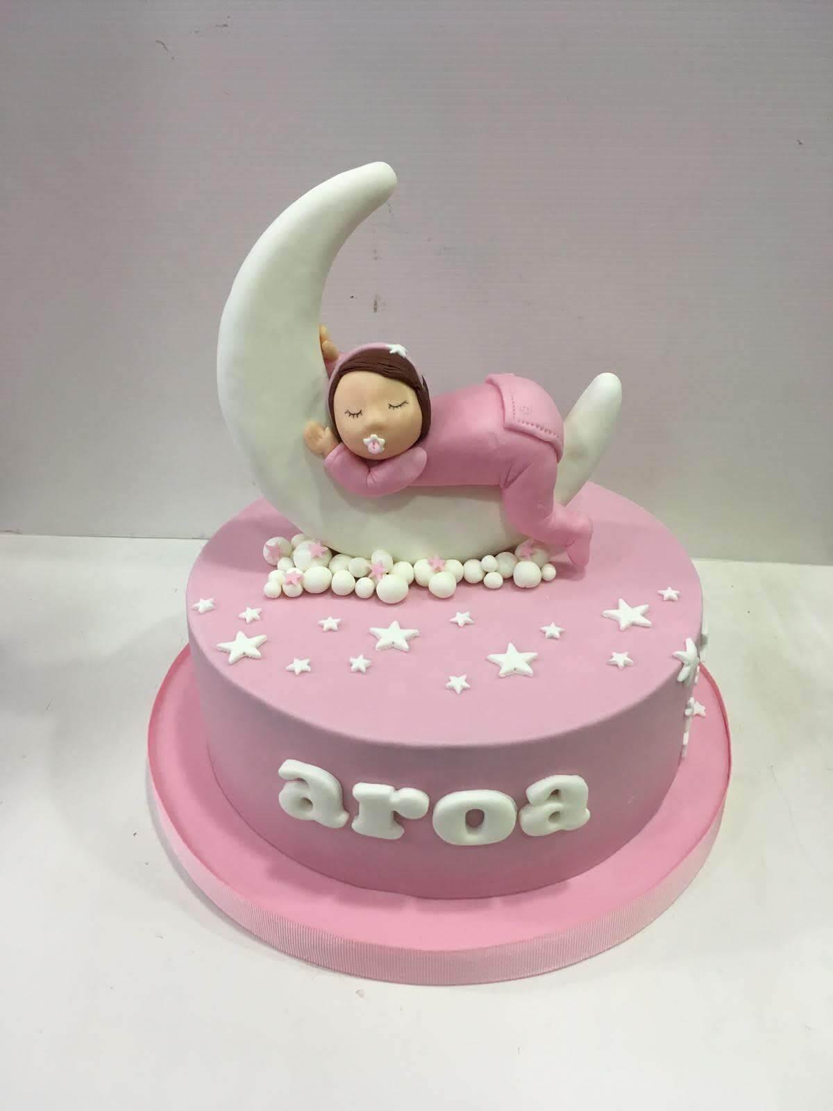 tarta bautizo coruña los postres de kelly personalizada niña bebe luna