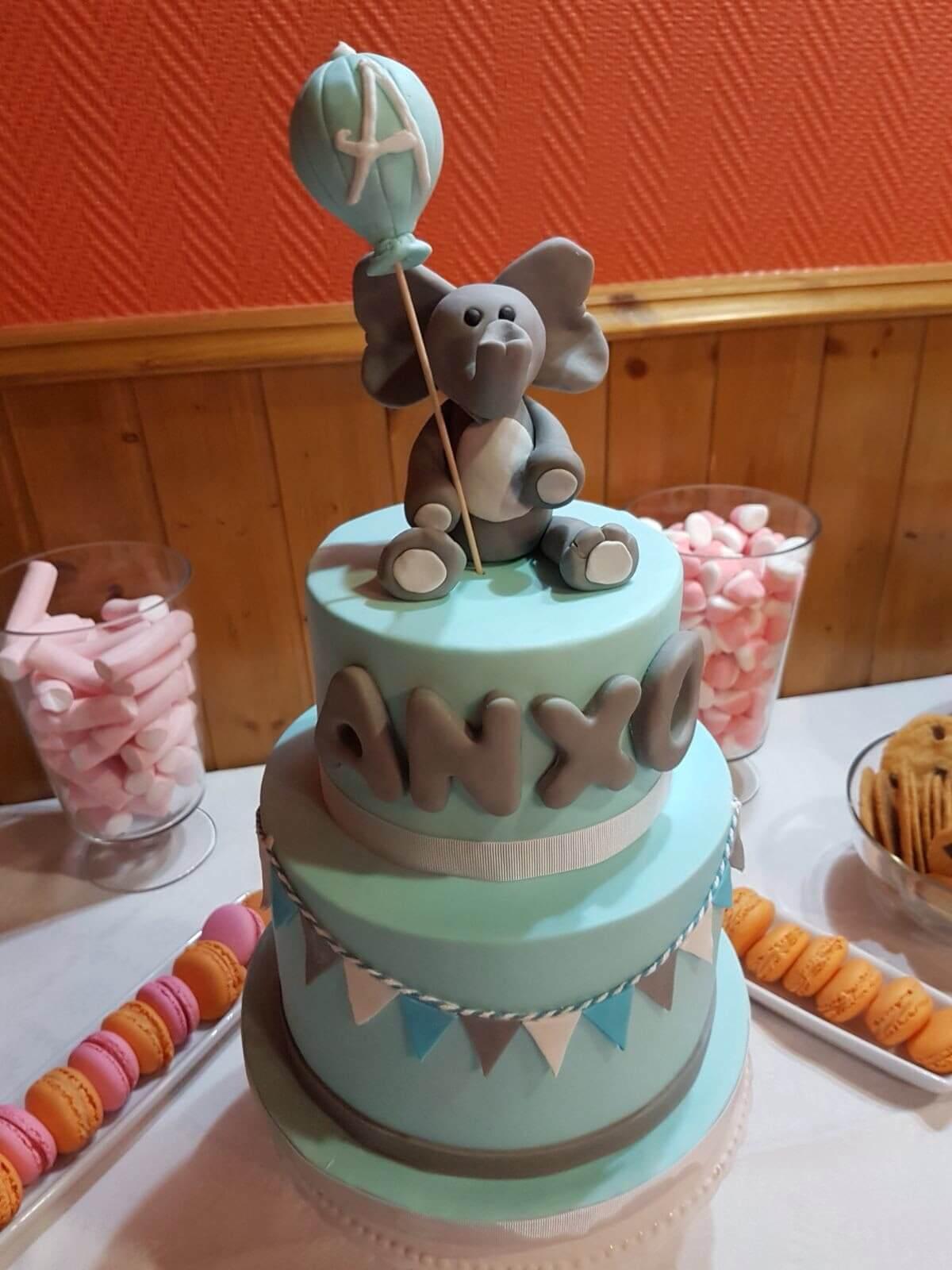tarta elefante coruñatarta elefante coruña bautizo cumpleaños personalizada