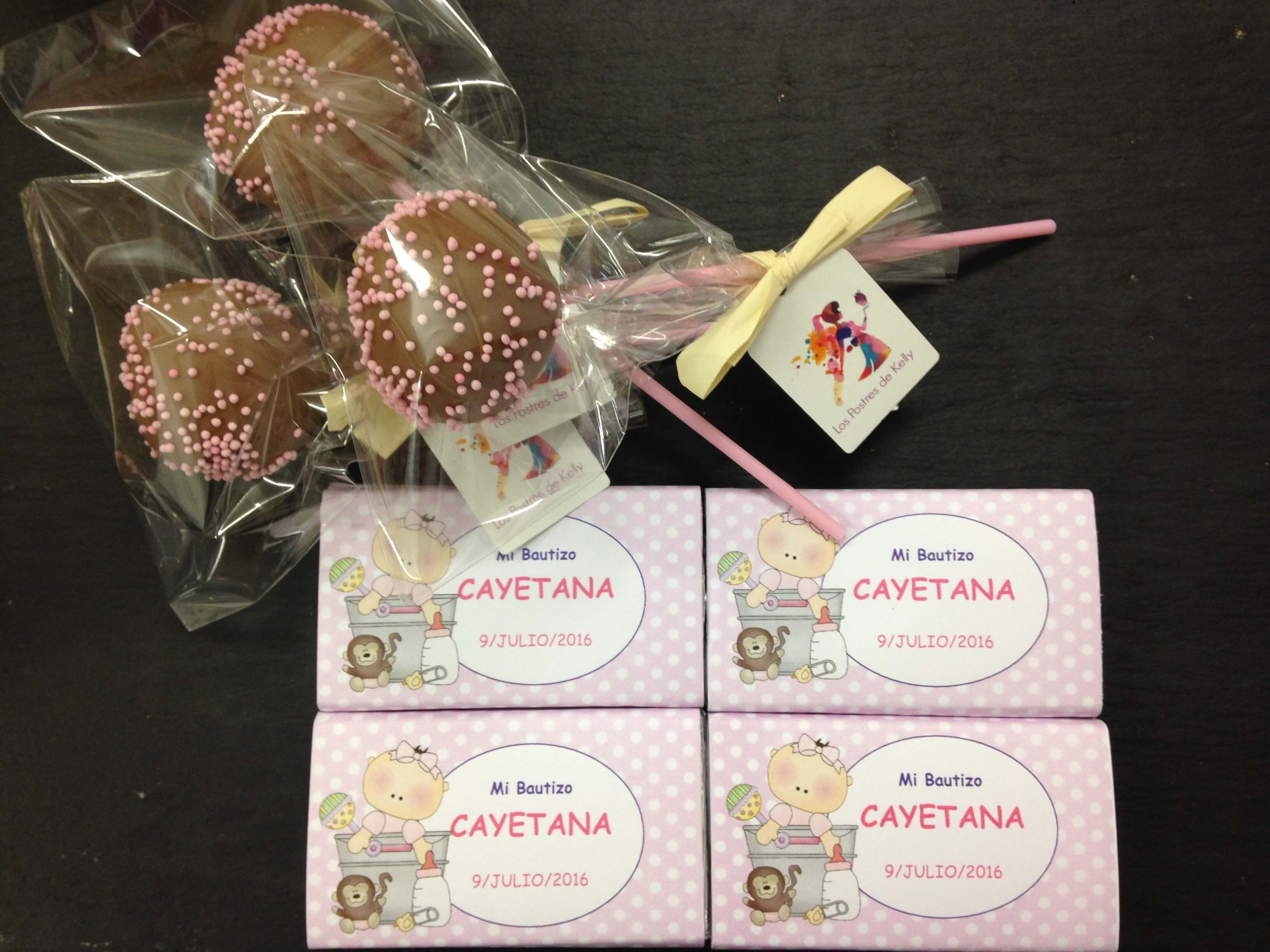 cakepops y chocolatinas bautizo o comunióndetalles dulces bautizo cumpleaños coruña cakepops tableta mini