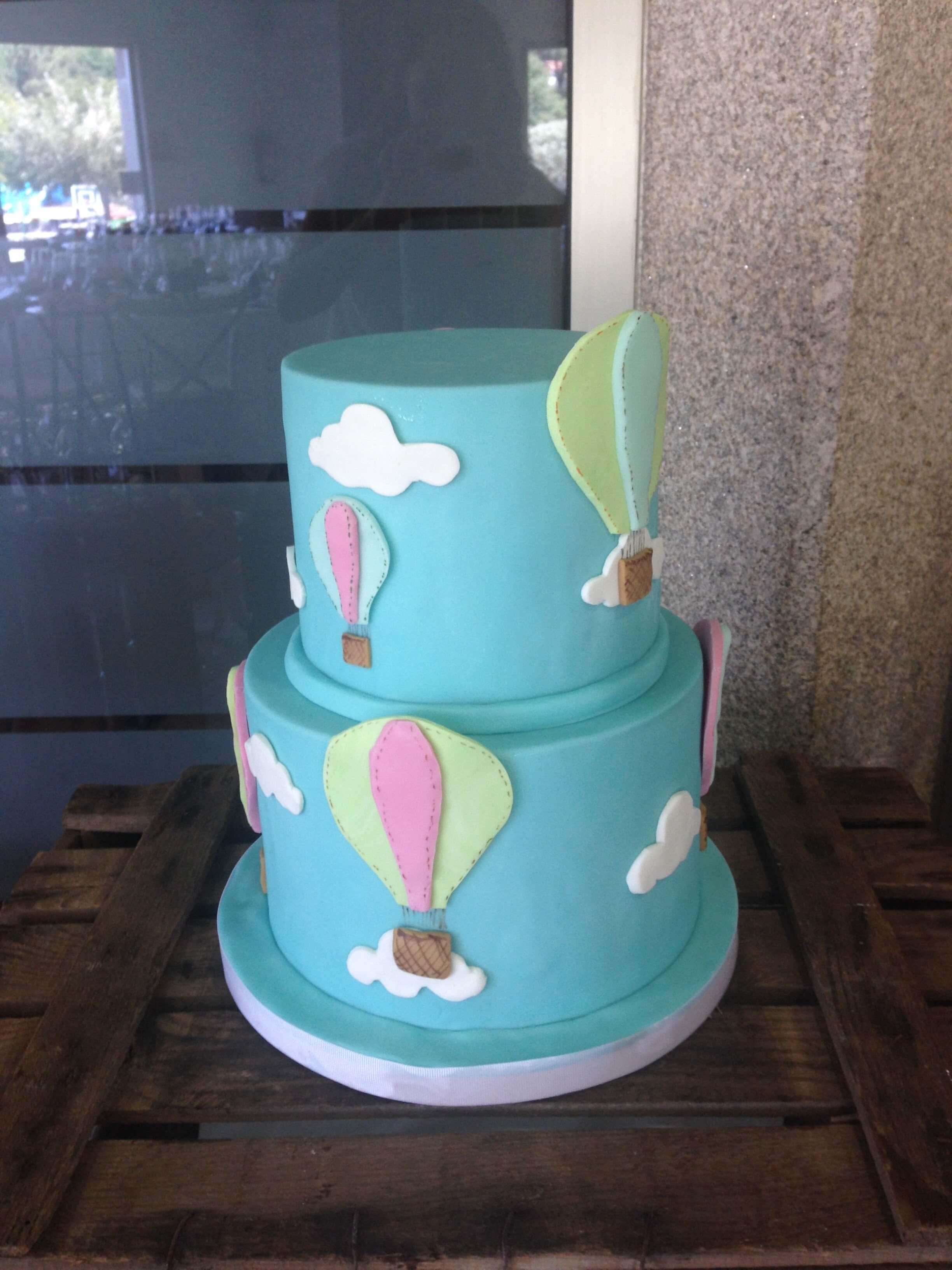 tarta globo aerostático coruñatarta globo aerostático coruña bautizo comunión coruña