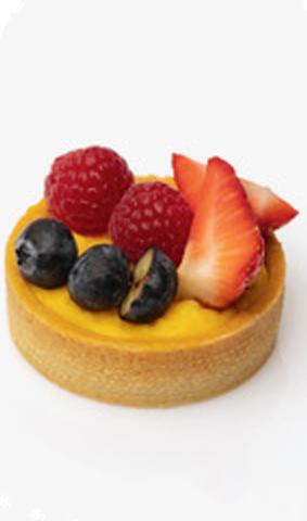 tarta individual crema pastelera y frutas coruña