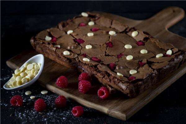 Brownie Frambuesa y chocolate blanco