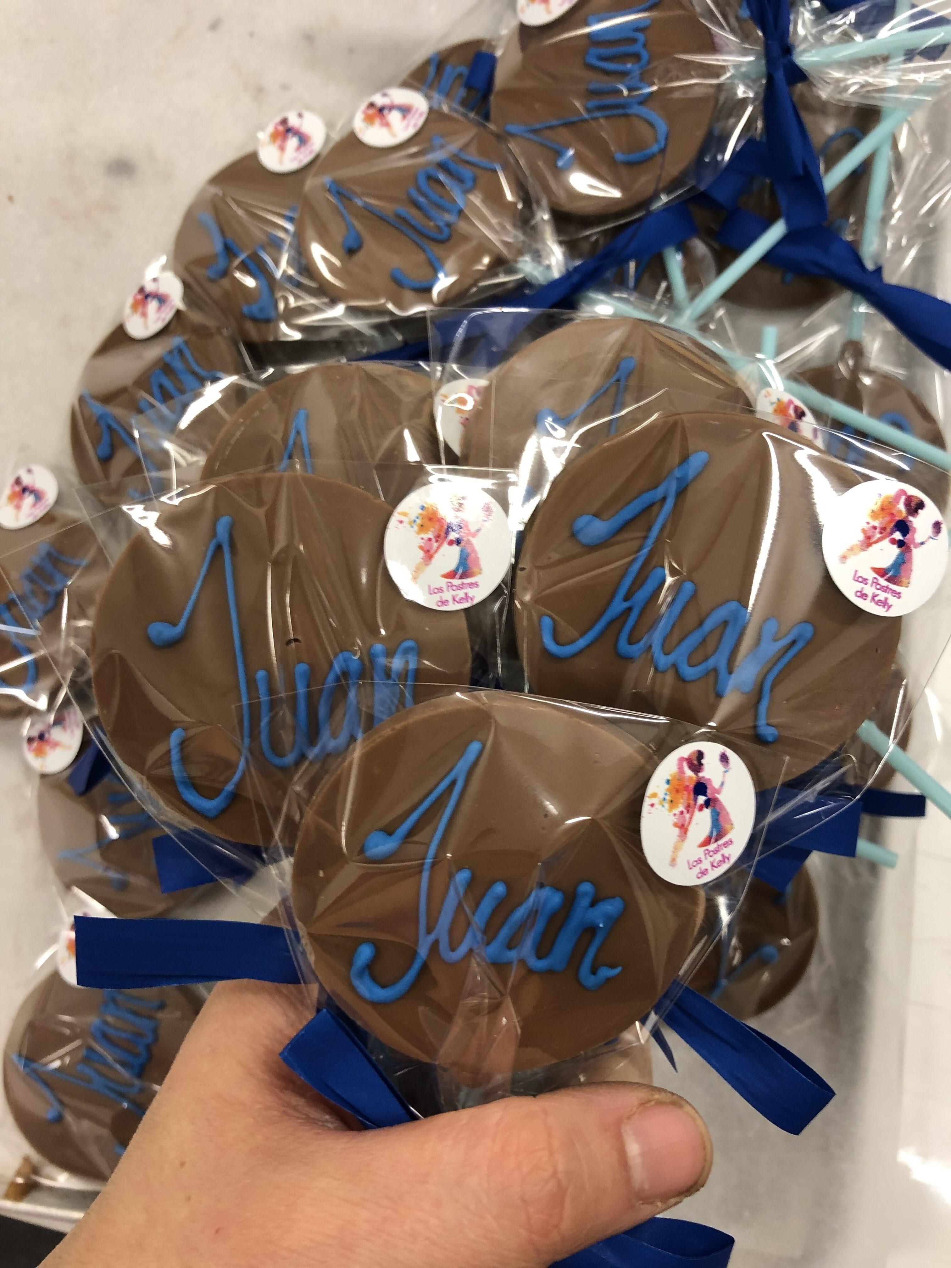 piruletas de chocolate artesanas coruña