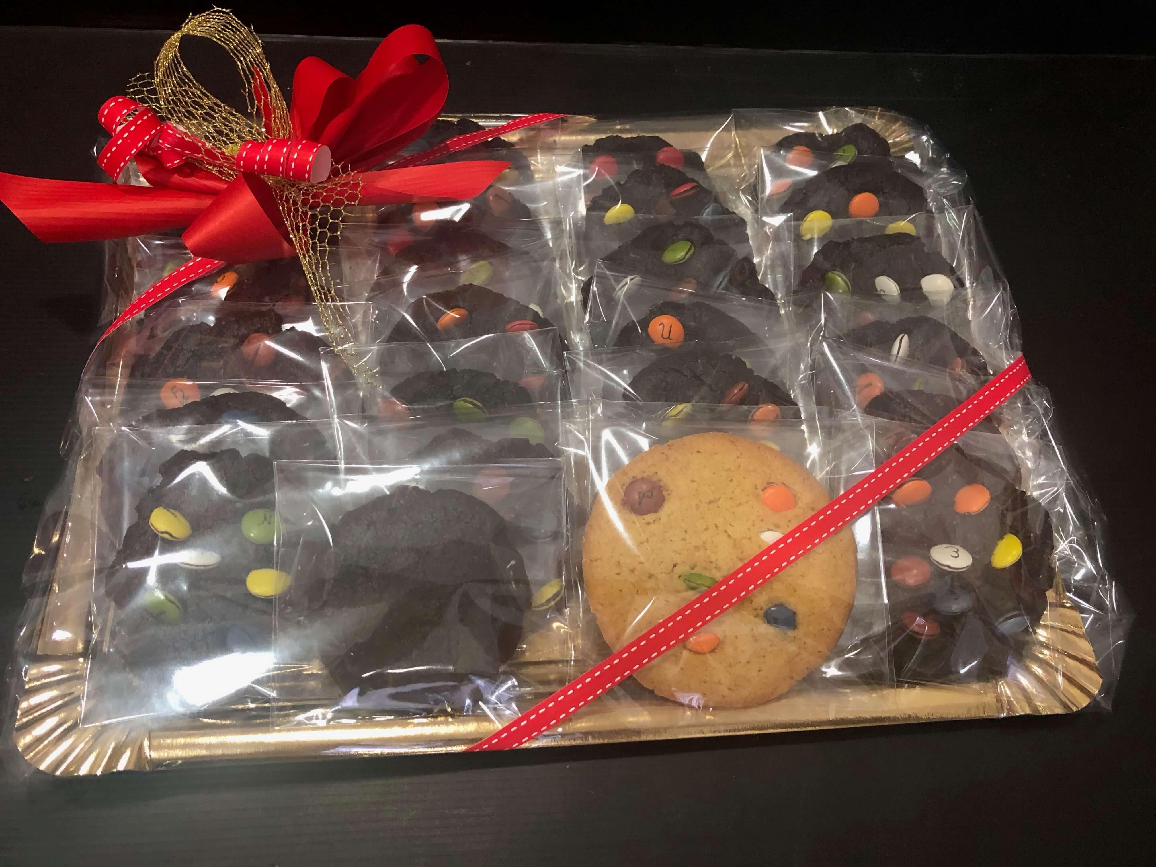 Cesta Bandejas cookies coruña