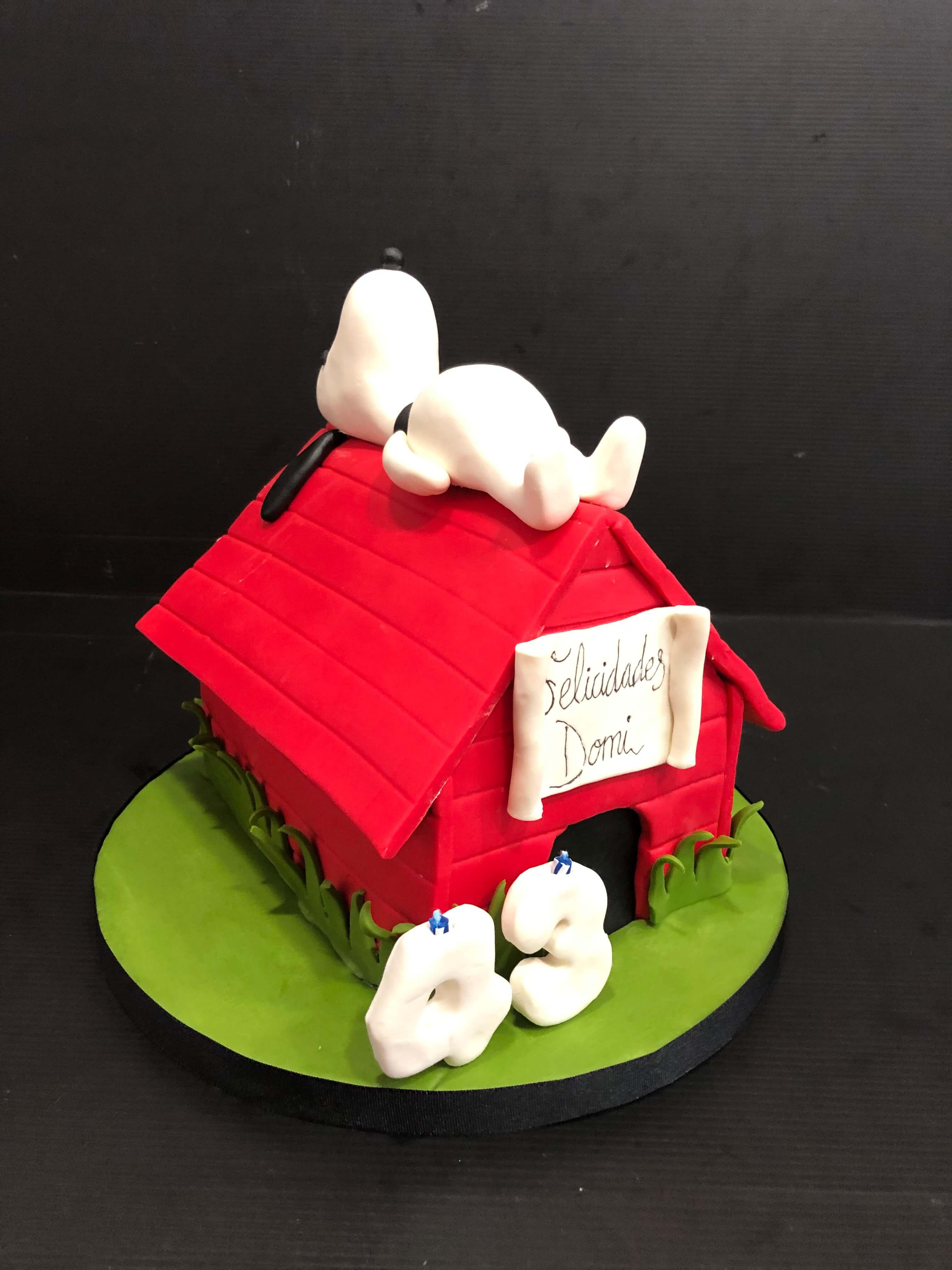 Tarta fondant Snoopy