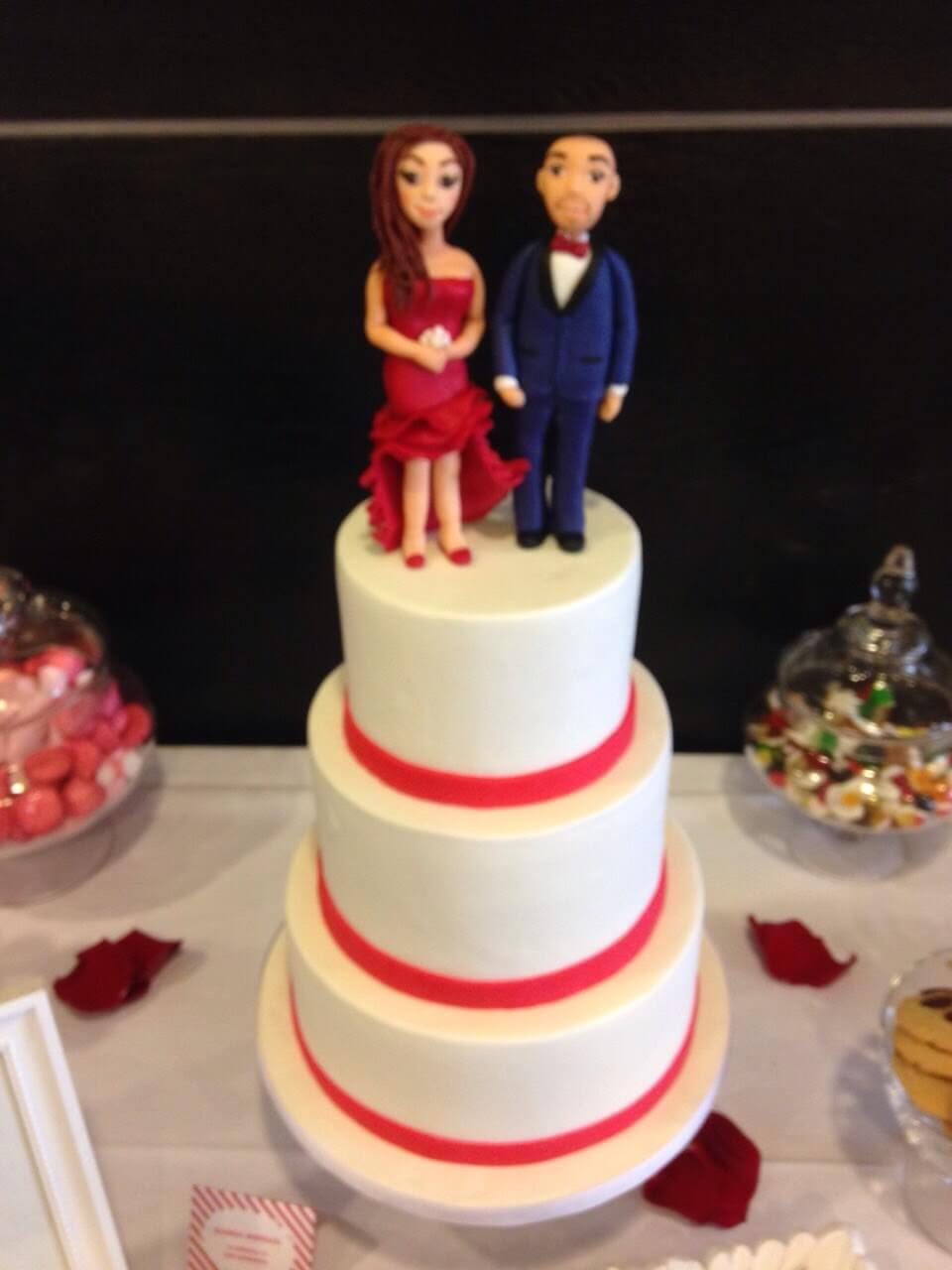 tarta boda fondant coruña