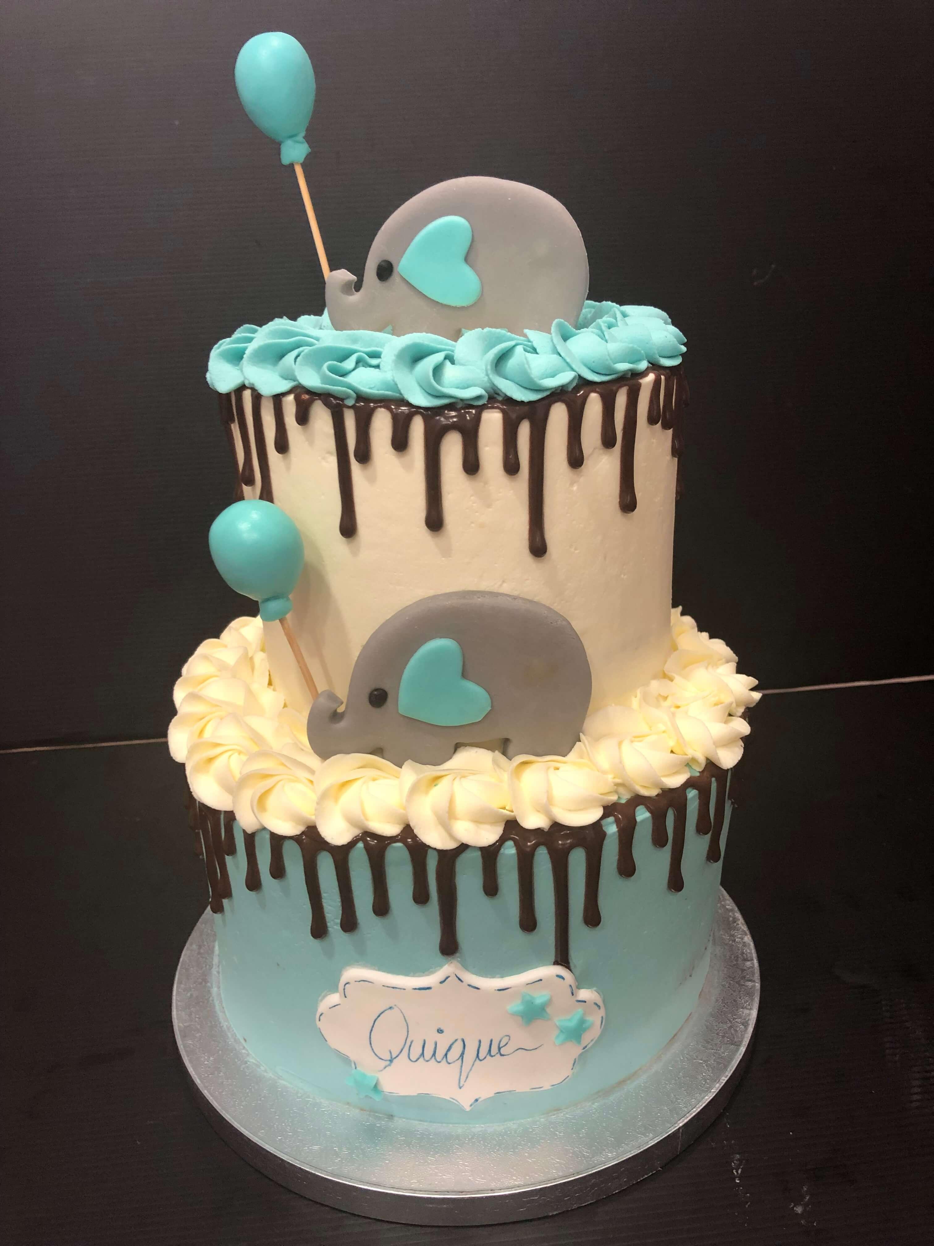 Tarta Elefante bautizo cumpleaños