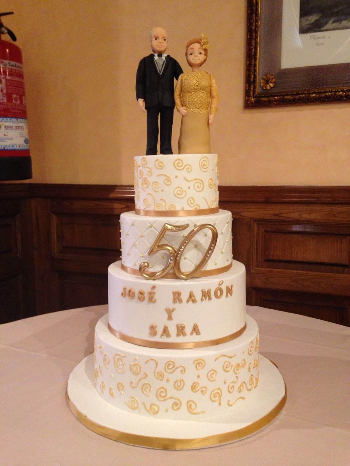 tarta 50 aniversario Coruña novios bodas de oro