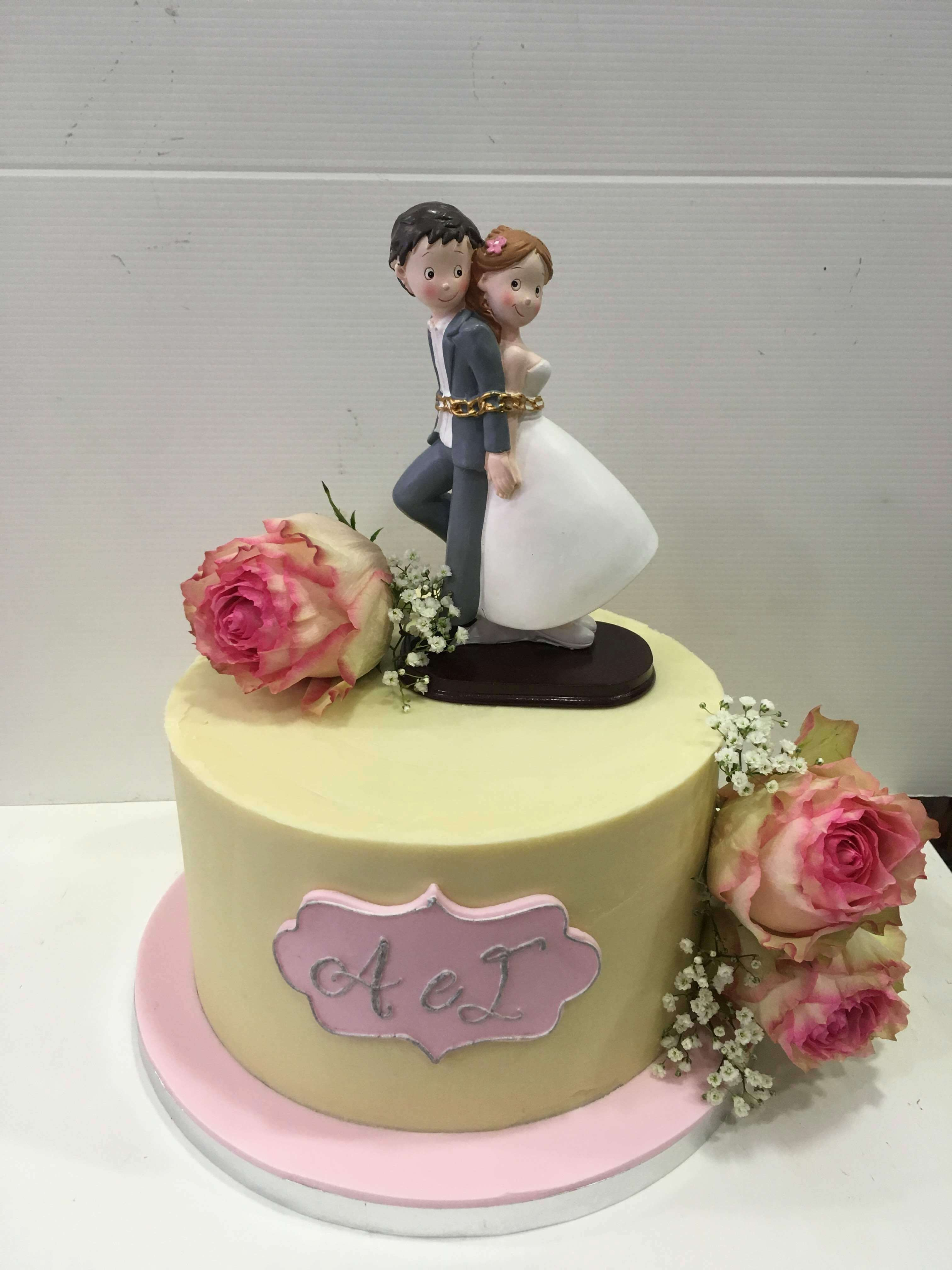 Tarta boda personalizada coruña novios