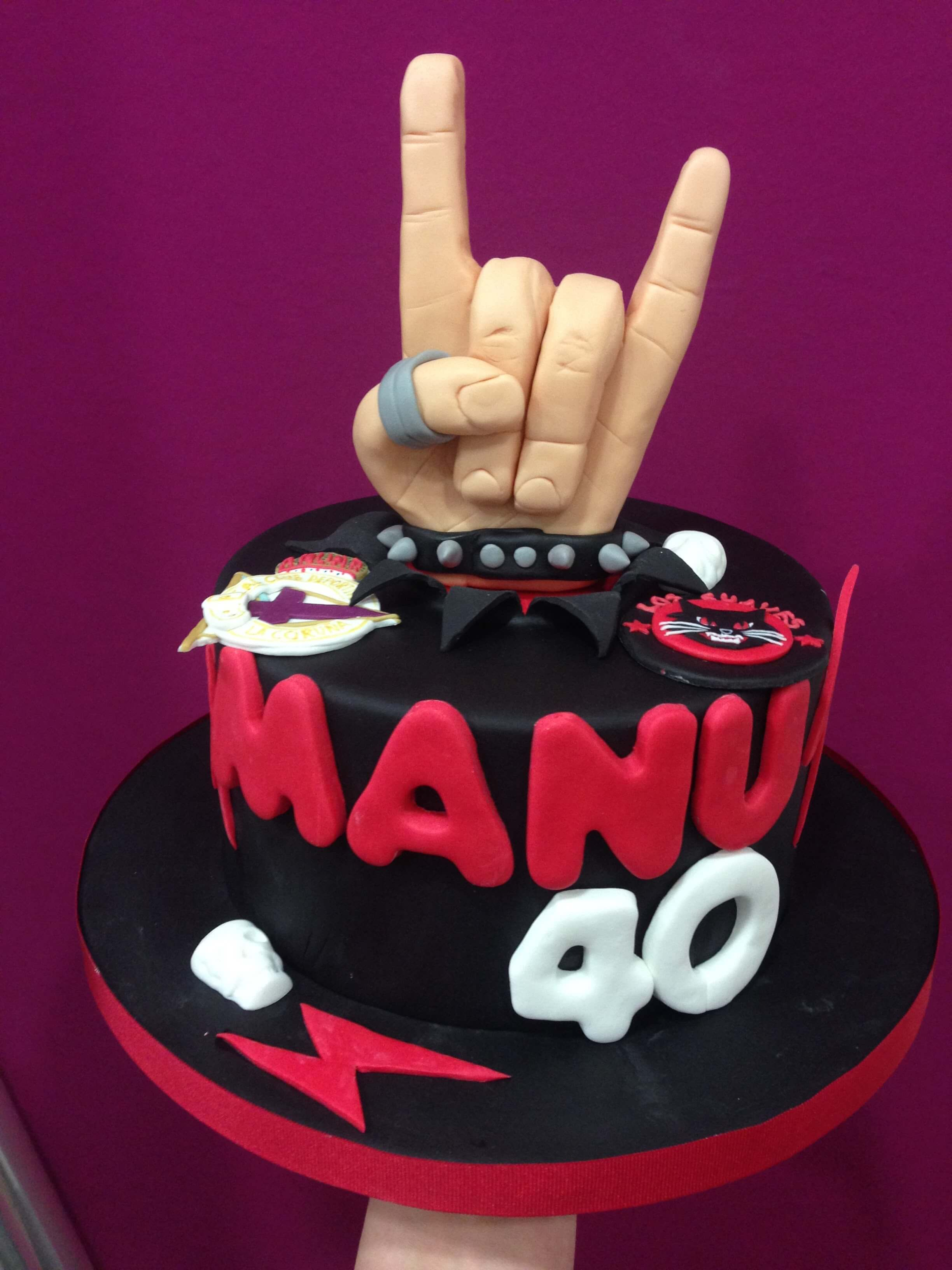 tarta personalizada cumpleaños rock ACDC depor los suaves  coruña