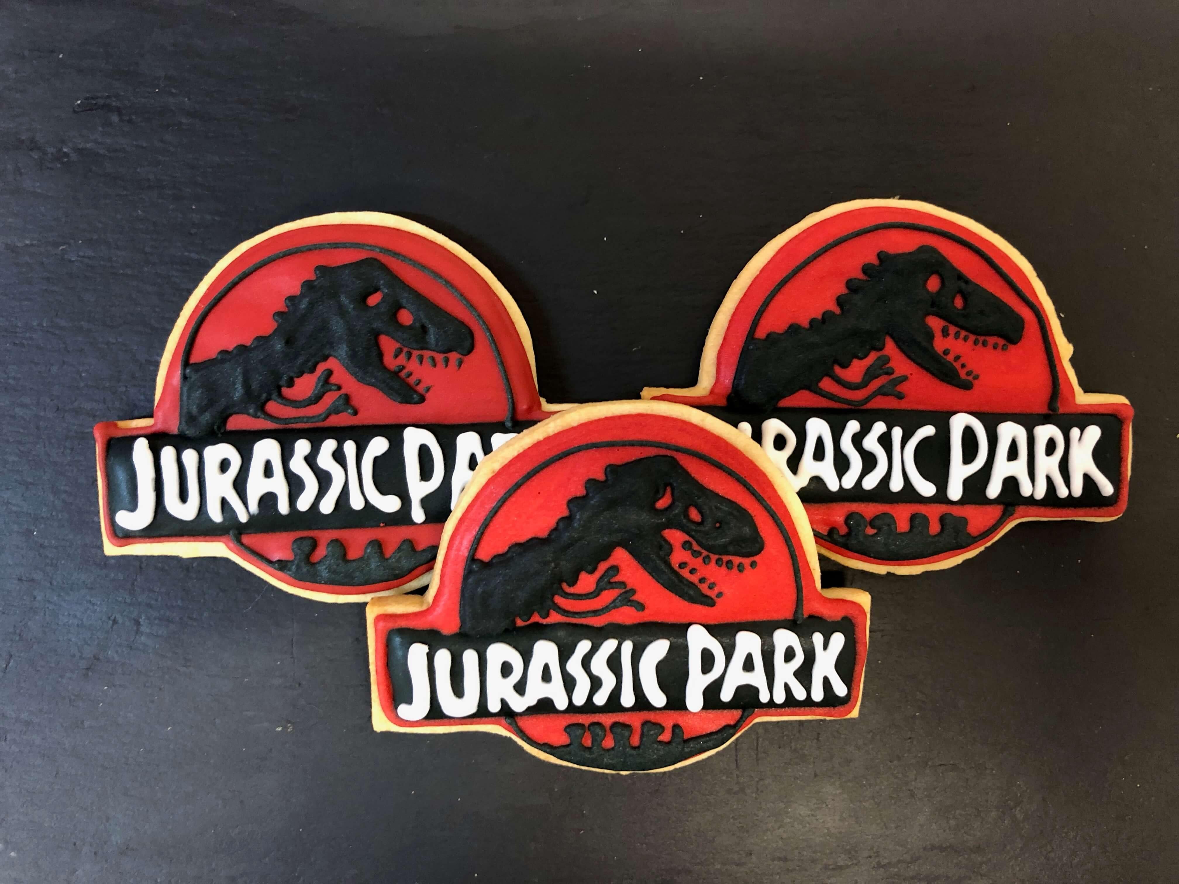 Galletas personalizadas cumpleaños Jurassic Park Coruña