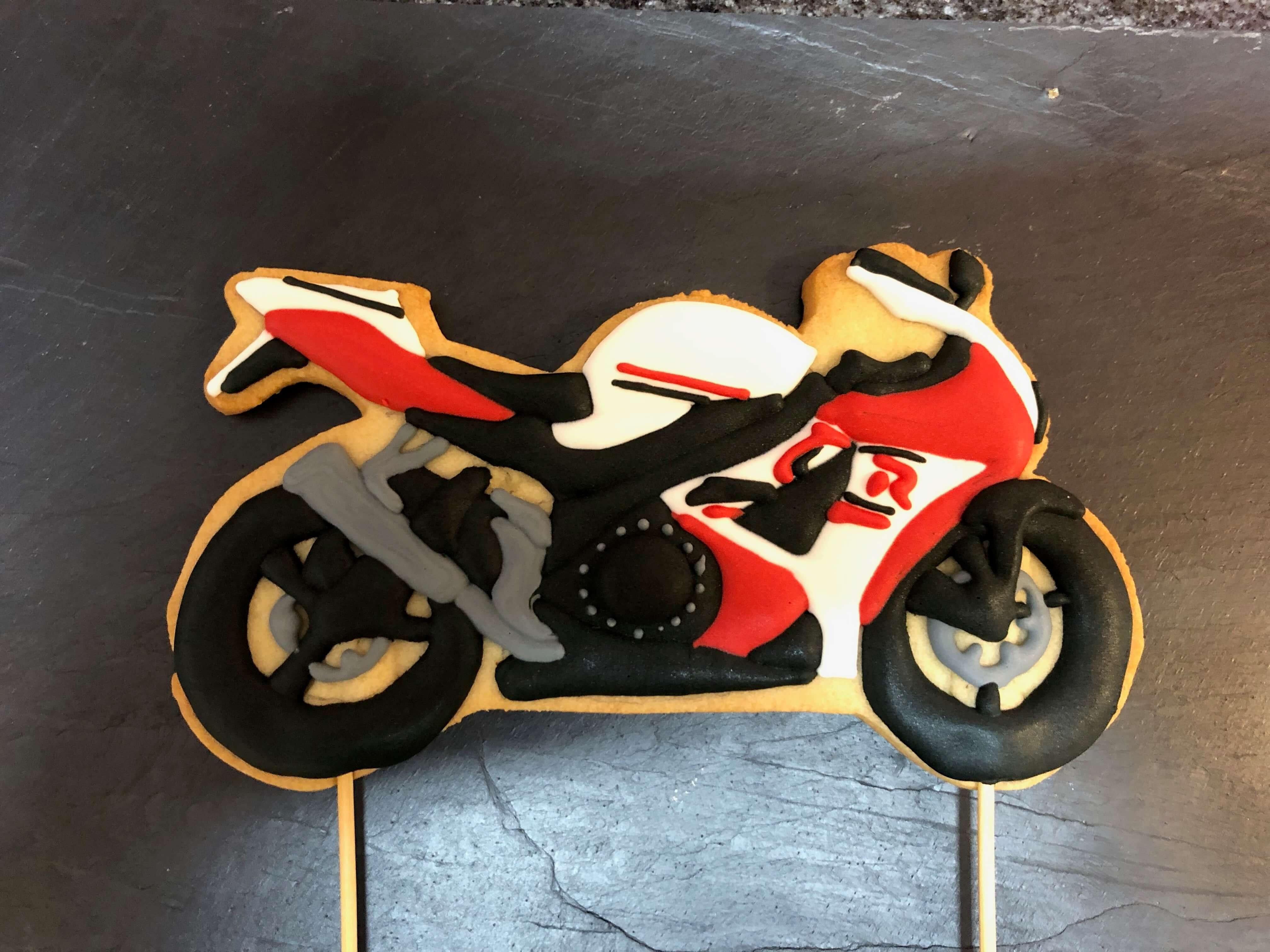 Galleta cumpleaños coruña moto galleta moto