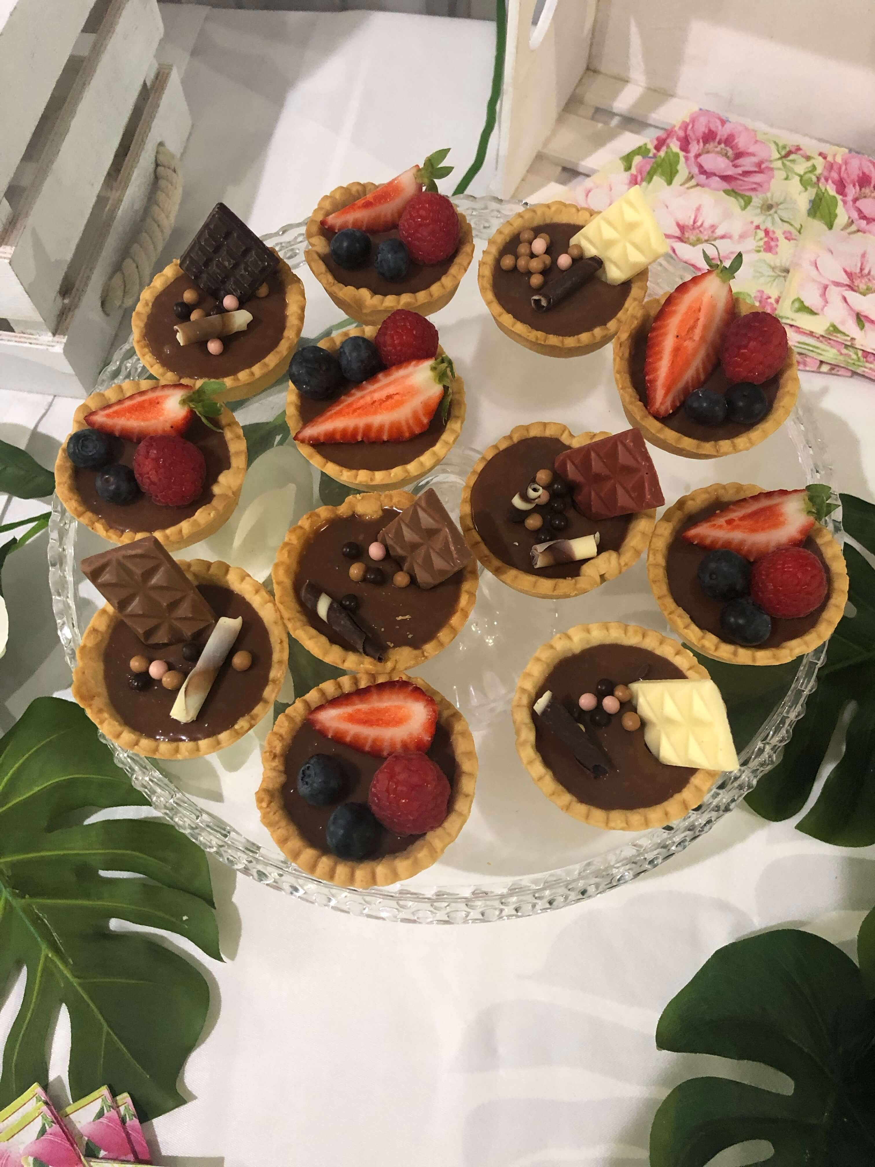 Mini tartaletas frutas tarta individual coruña