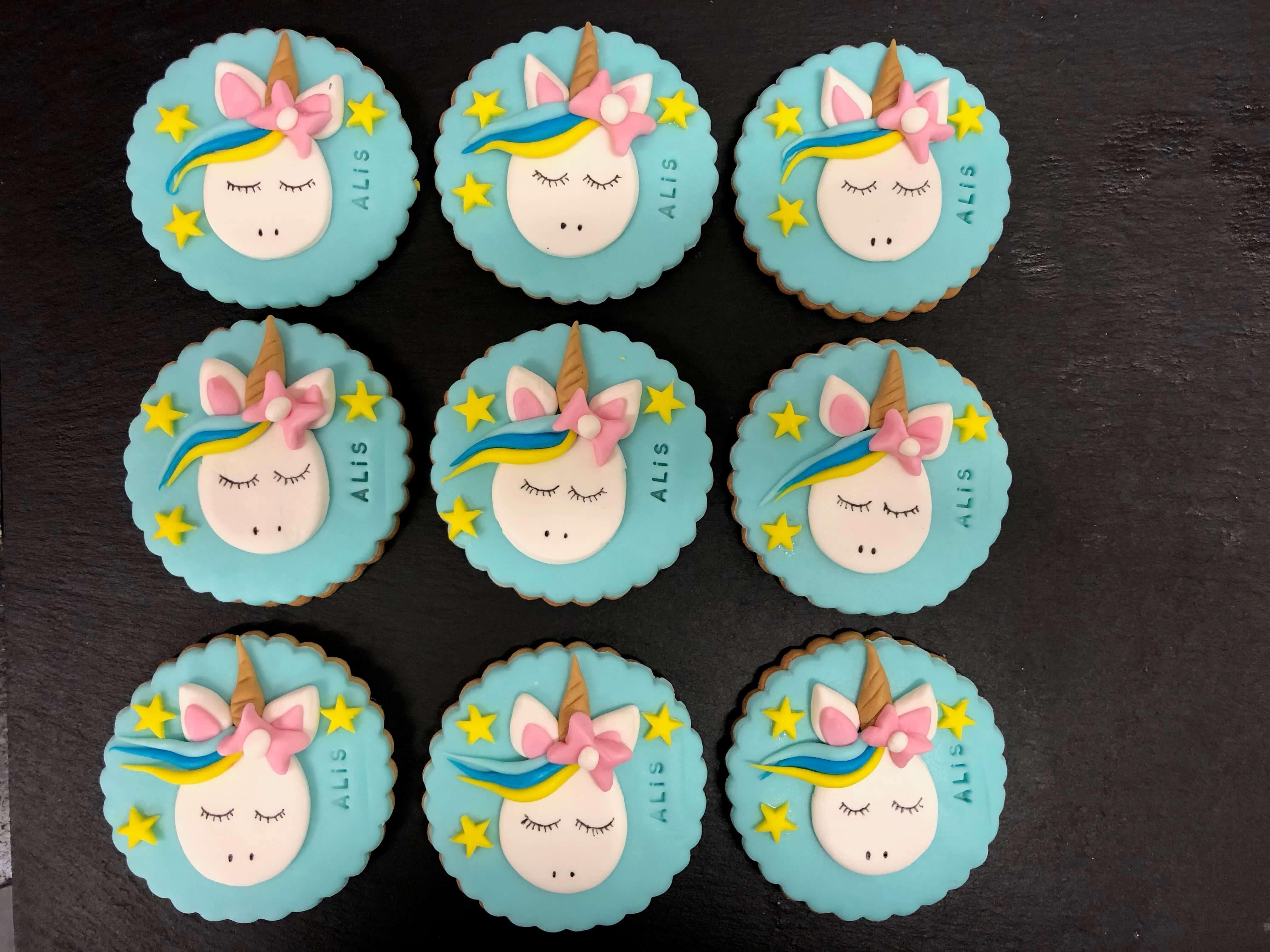 Galletas Unicornio personalizadas cumpleaños  Coruña