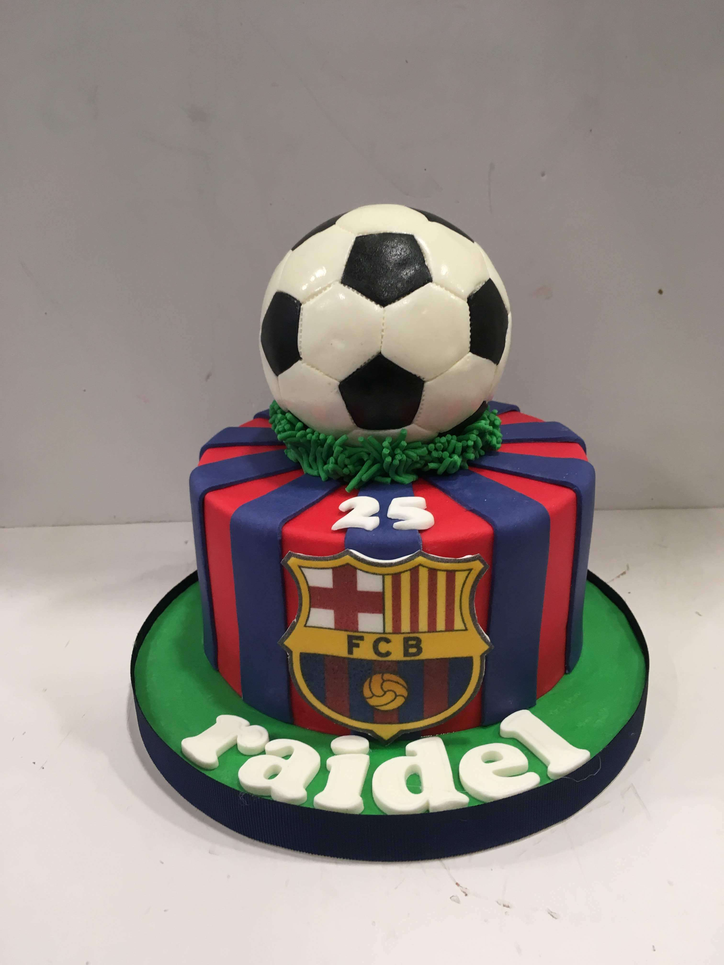 Tarta Barcelona barca cumpleaños futbol