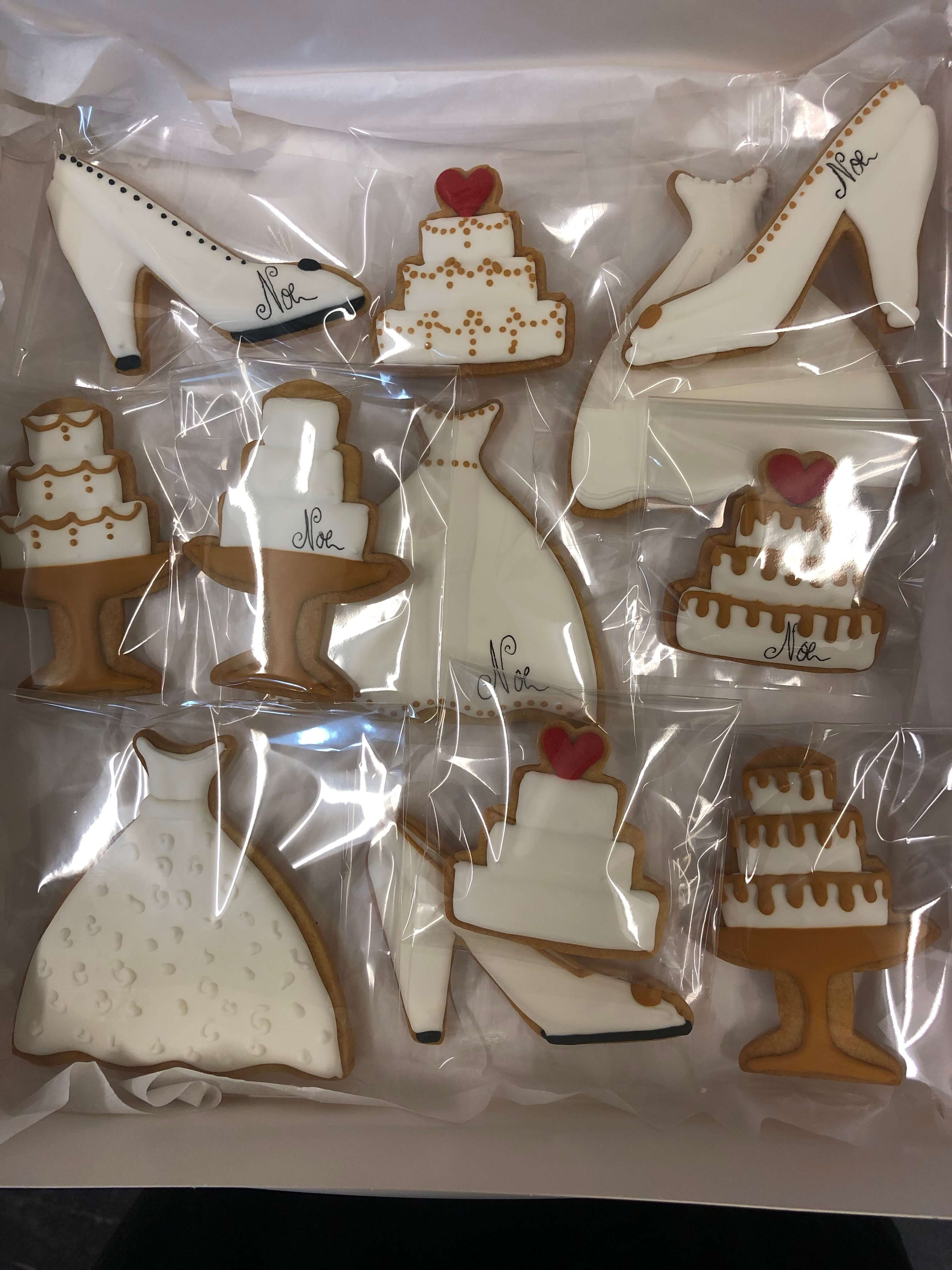 Galletas personalizadas para boda con iniciales coruña