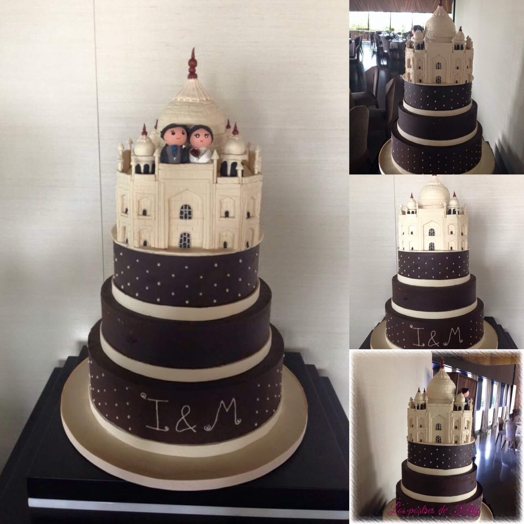 tarta boda taj Mahal coruña personalizada
