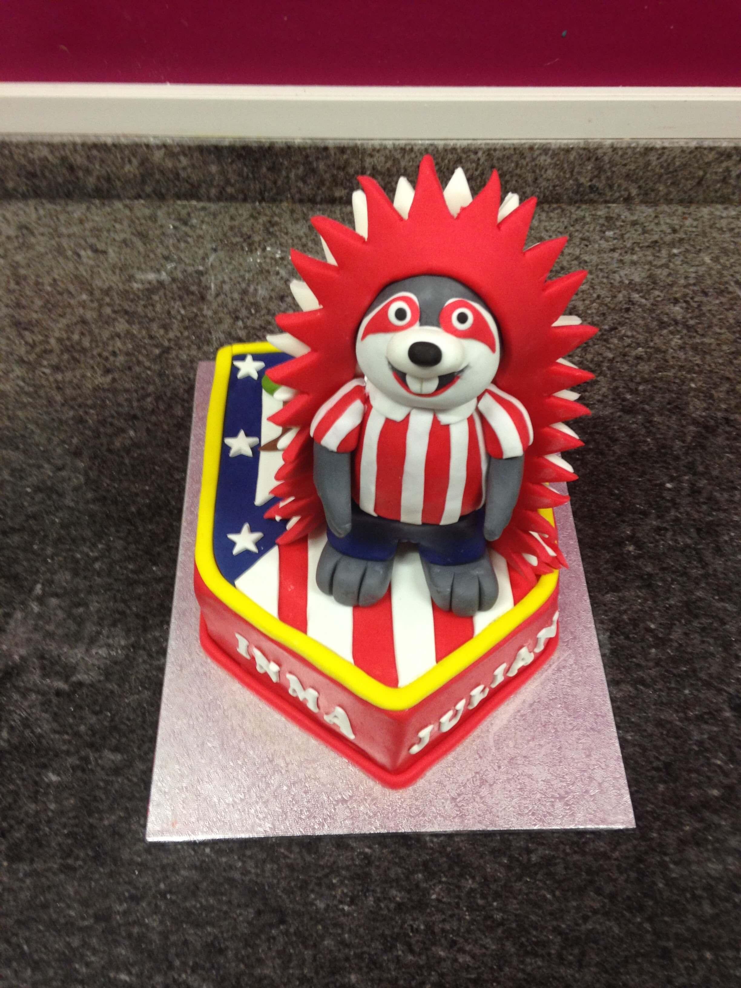 Tarta Atletico de Madrid cumpleaños futbol