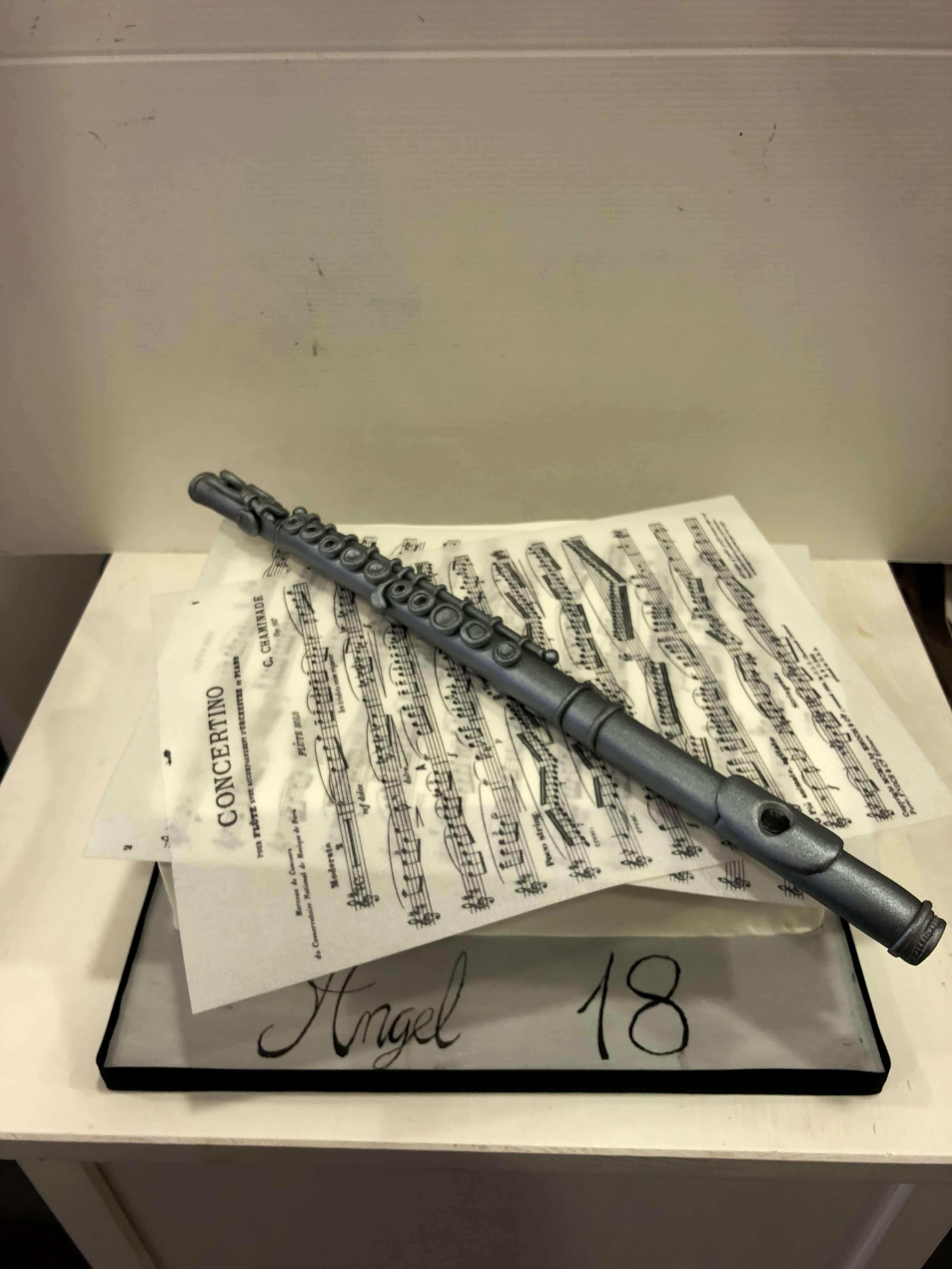 tarta cumpleaños musica  flauta  partitura coruña
