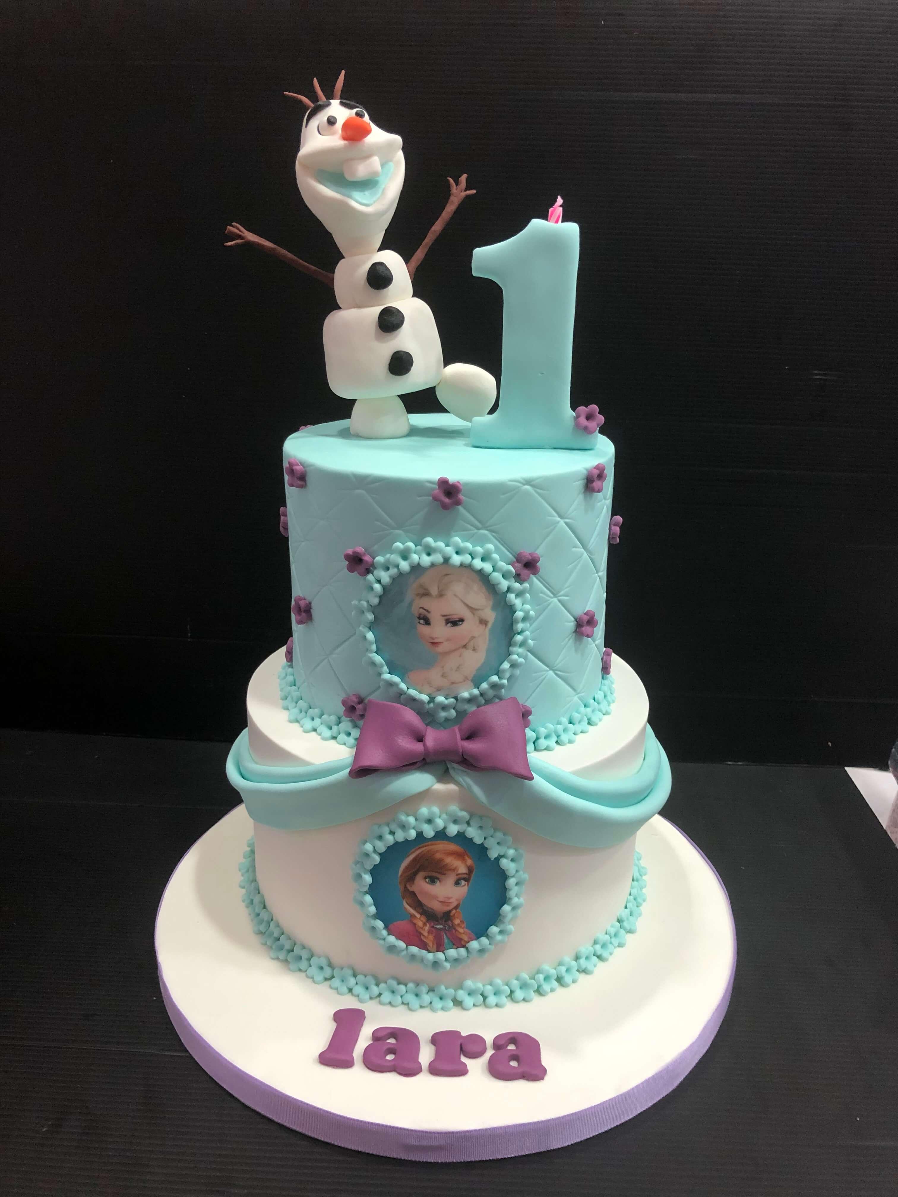 Tarta cumpleaños frozen Olaf coruña