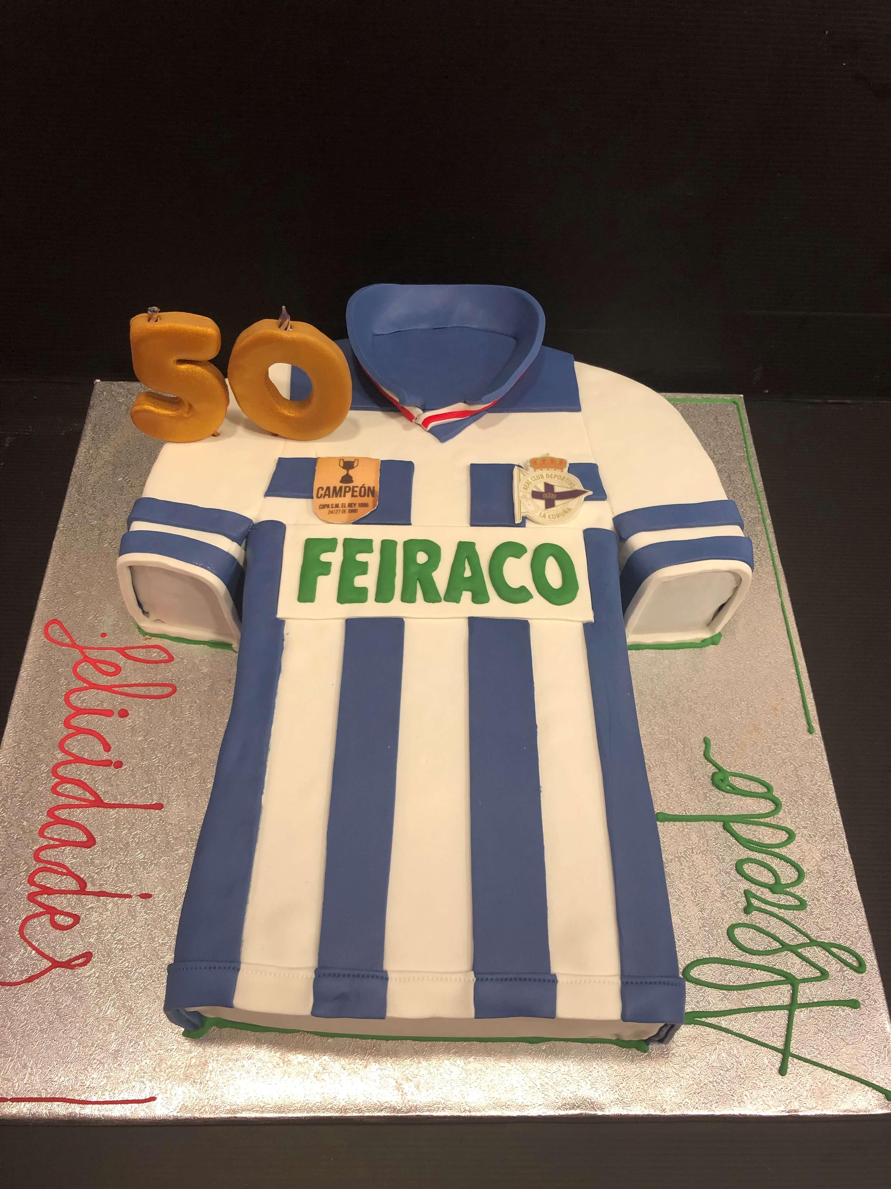 Tarta cumpleaños coruña deportivo de La Coruña