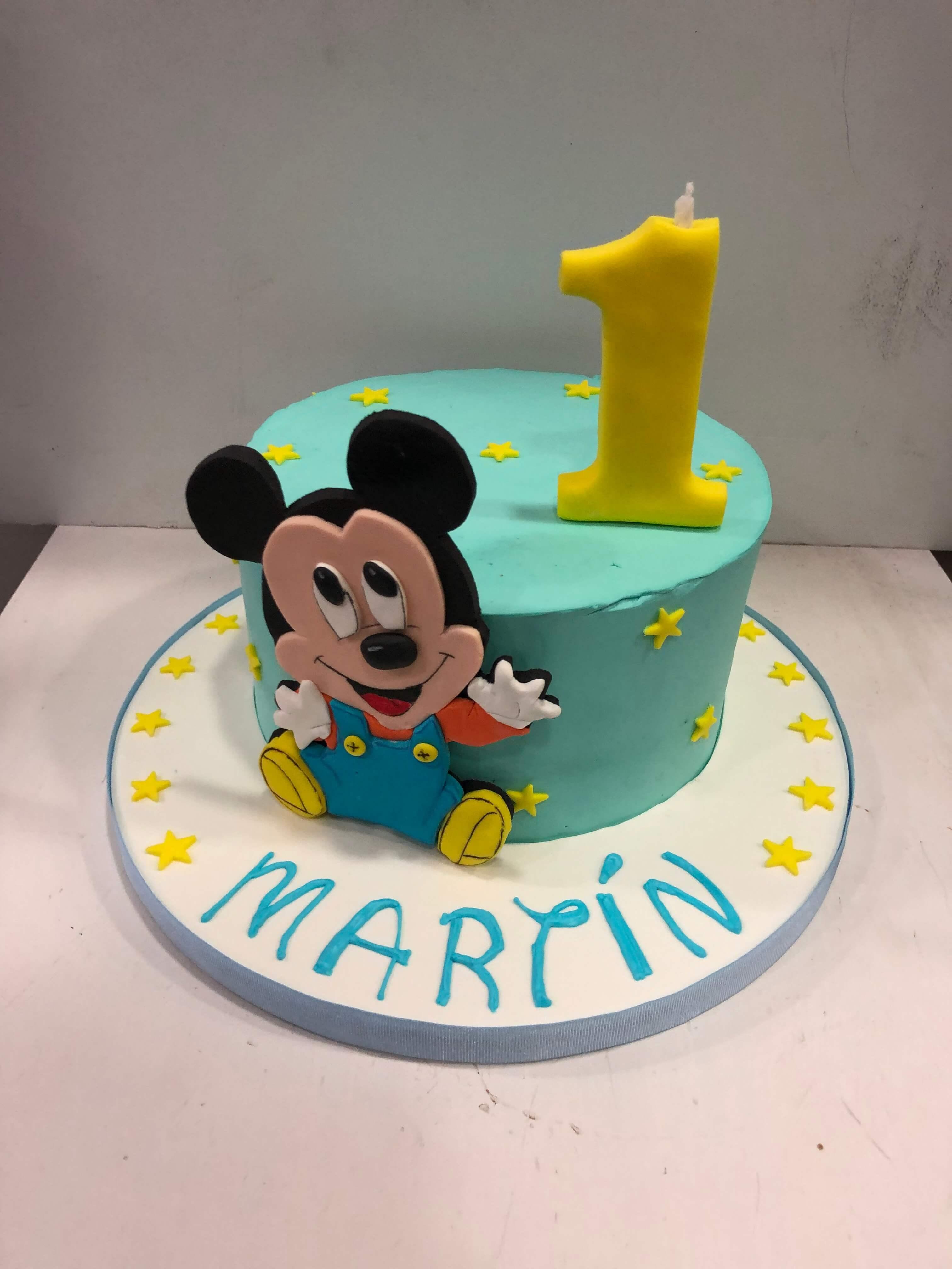 Tarta Mickey cumpleaños personalizada