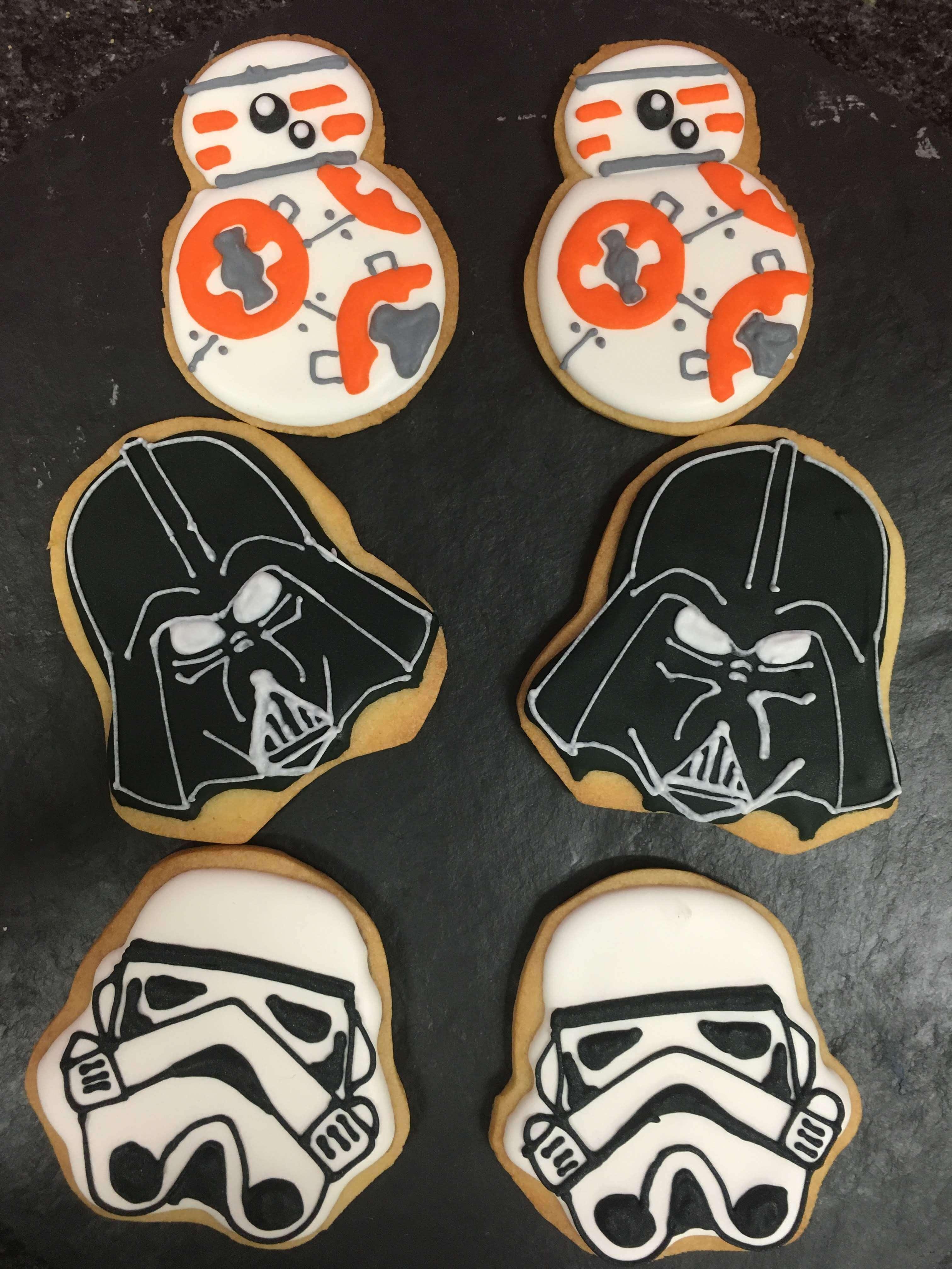 galletas decoradas soldado imperial R2D2 Star Wars cumpleaños decoradas coruña