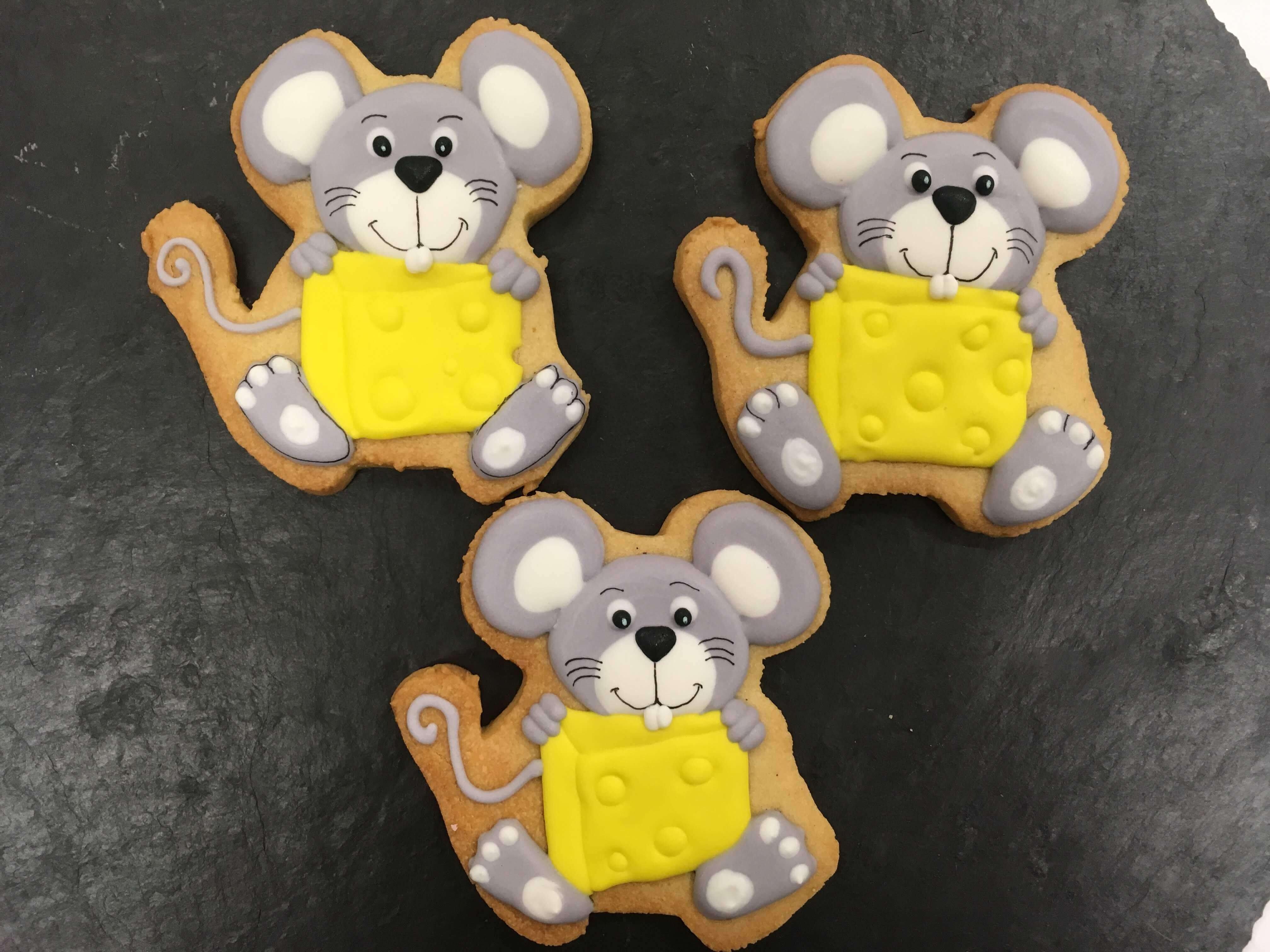 Galletas decoradas ratón queso coruña personalizada