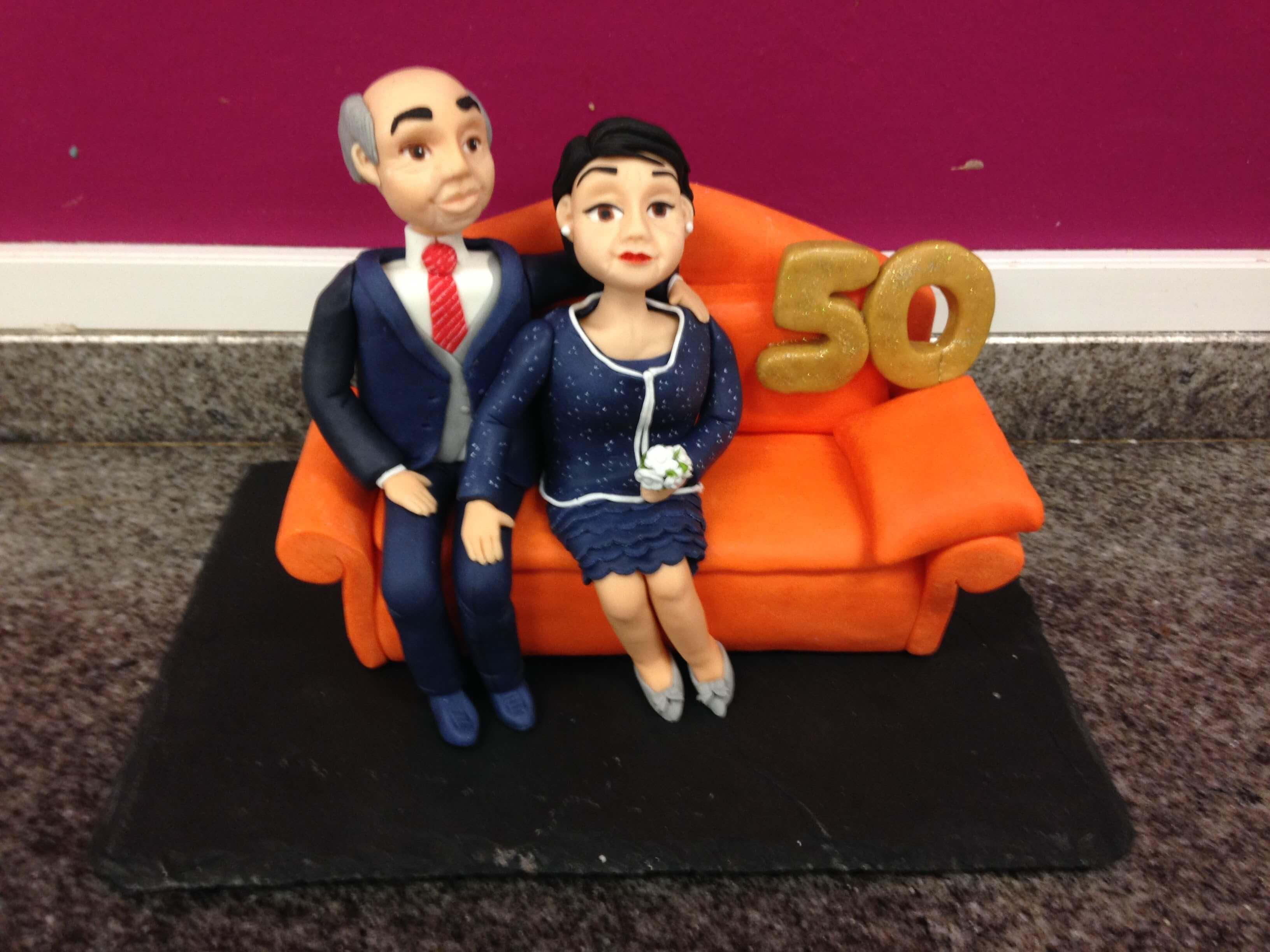 tarta boda novios 50 aniversario coruña bodas oro