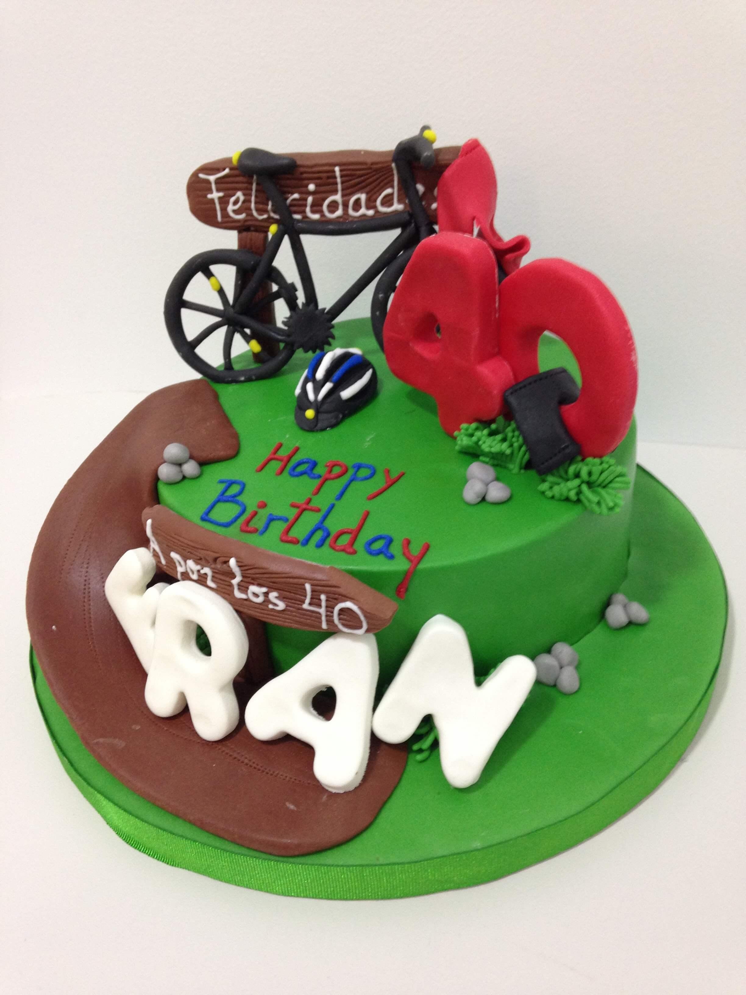 Tarta cumpleaños bicicleta montaña coruña