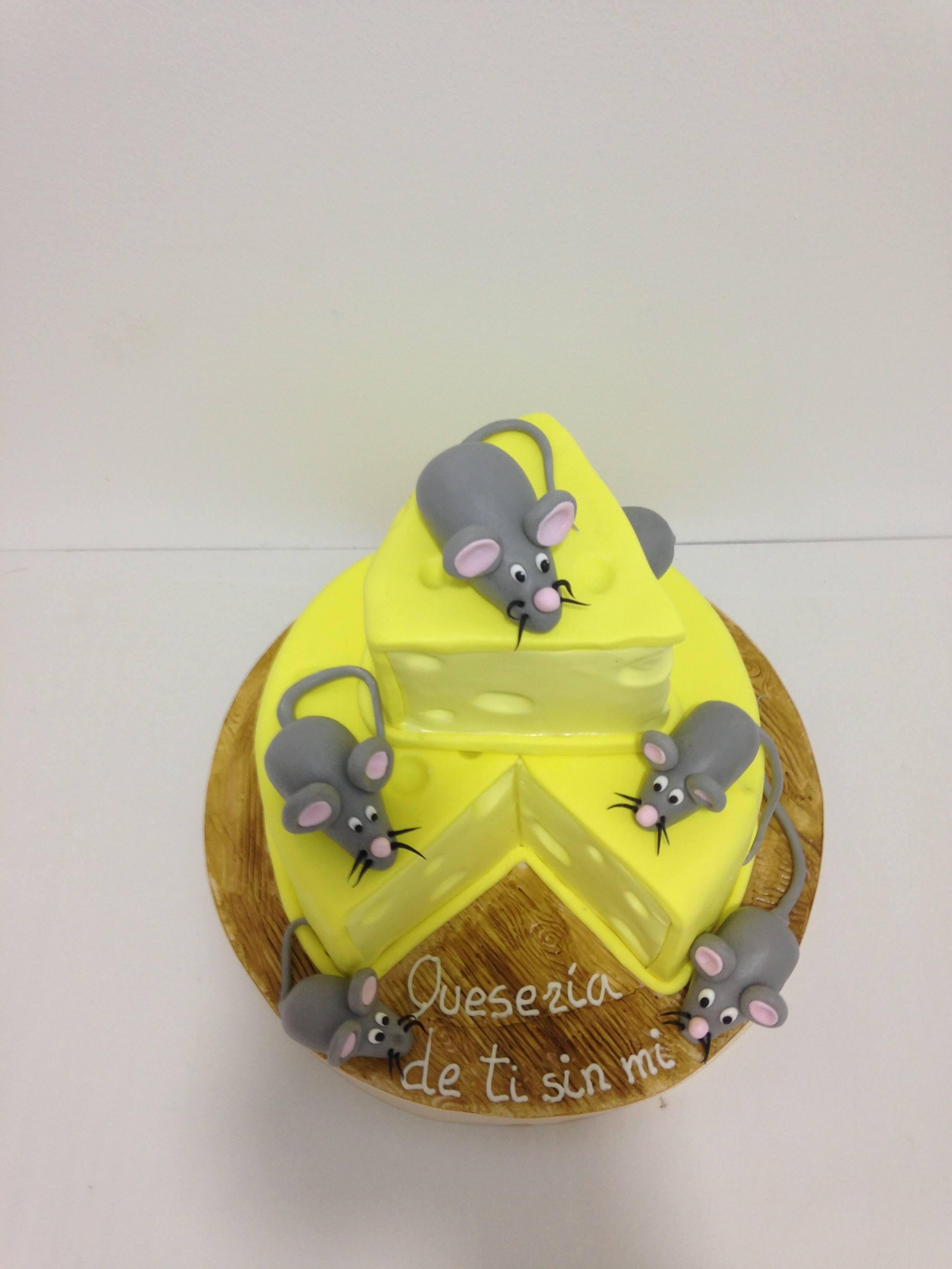 Tarta cumpleaños queso quesería ratón coruña