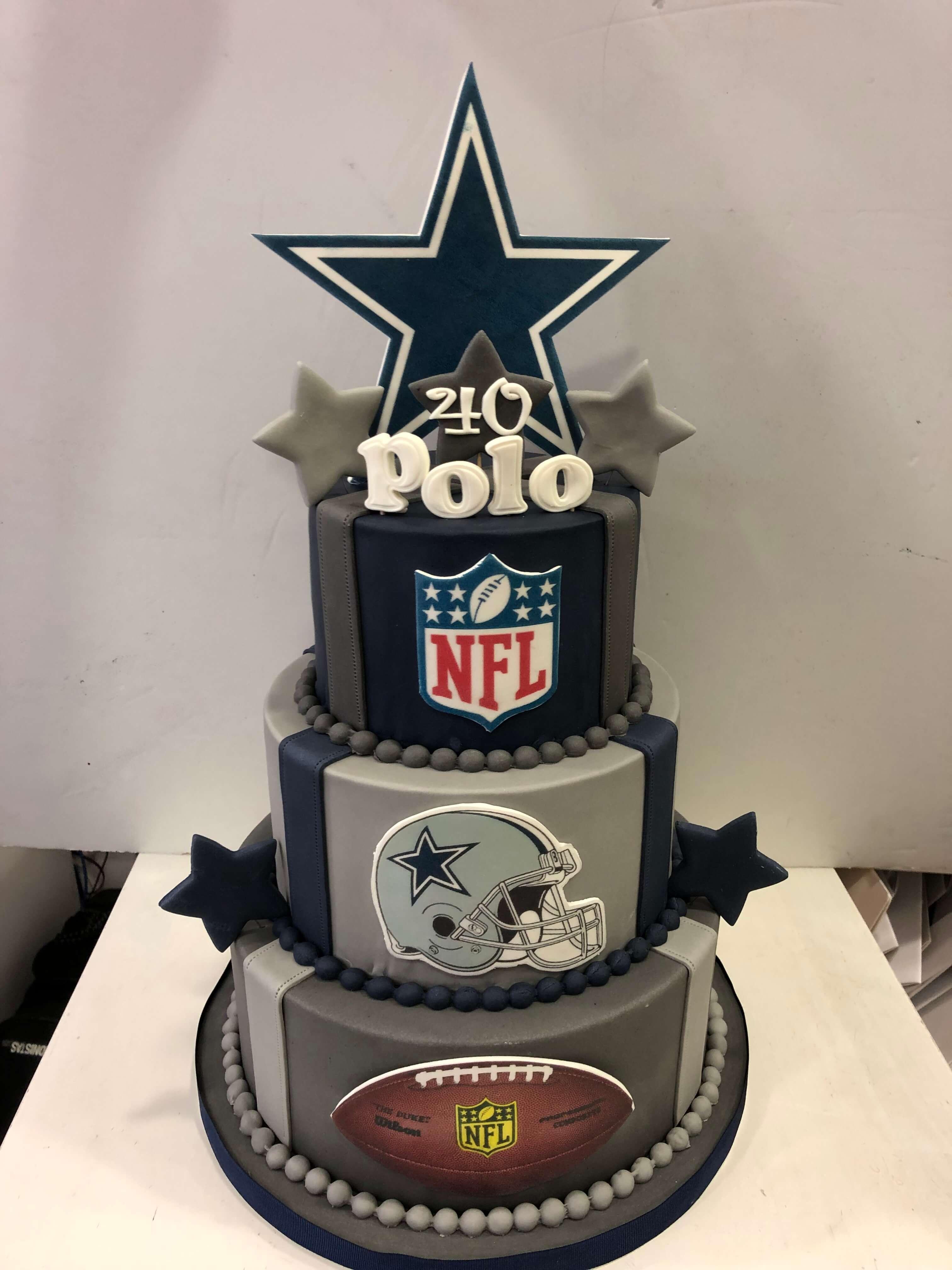 Tarta cumpleaños rugby NFL coruña