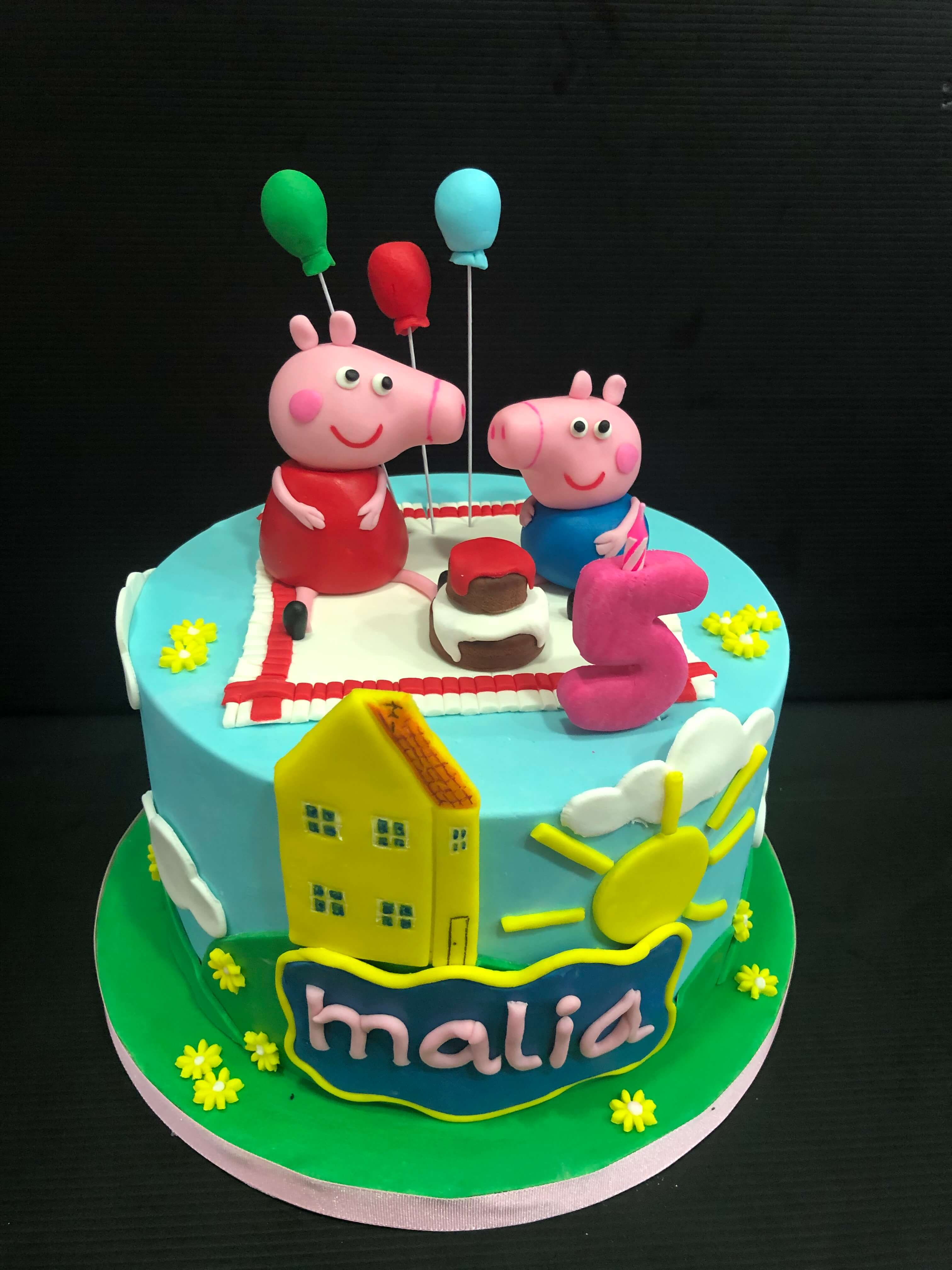 Tarta cumpleaños coruña personalizada peppa pig