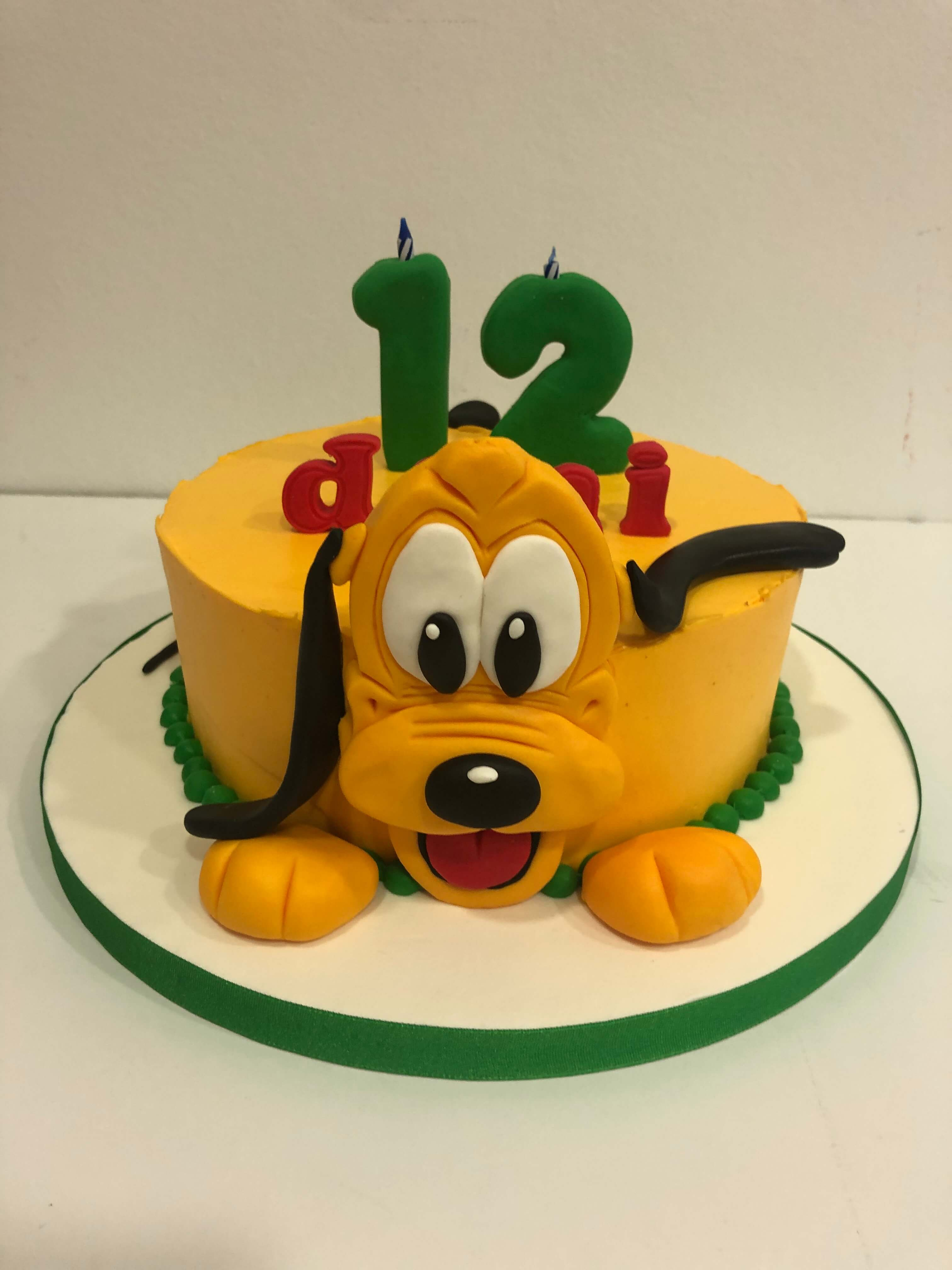 Tarta cumpleaños Pluto coruña