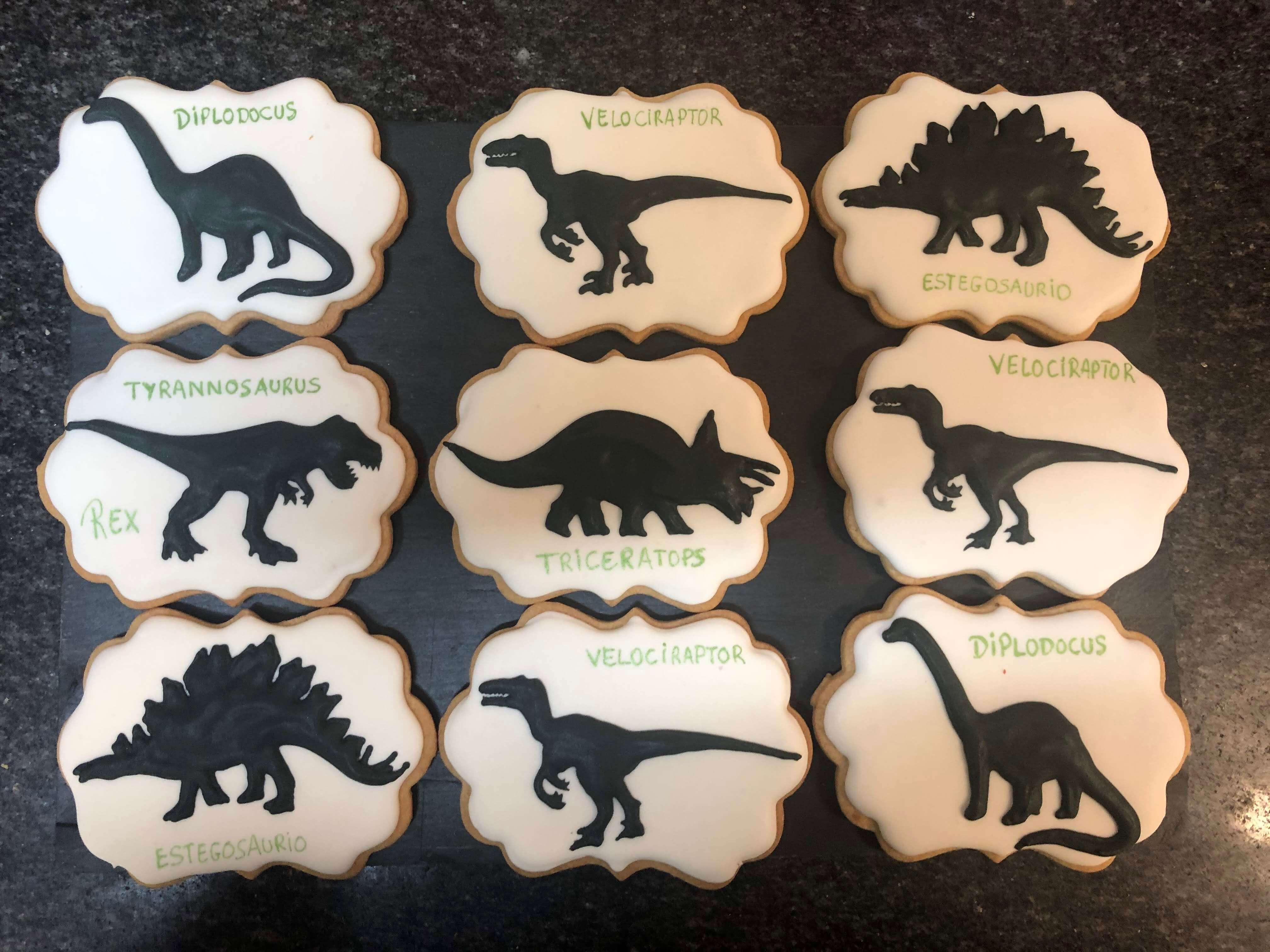 Galletas decoradas dinosaurios coruña