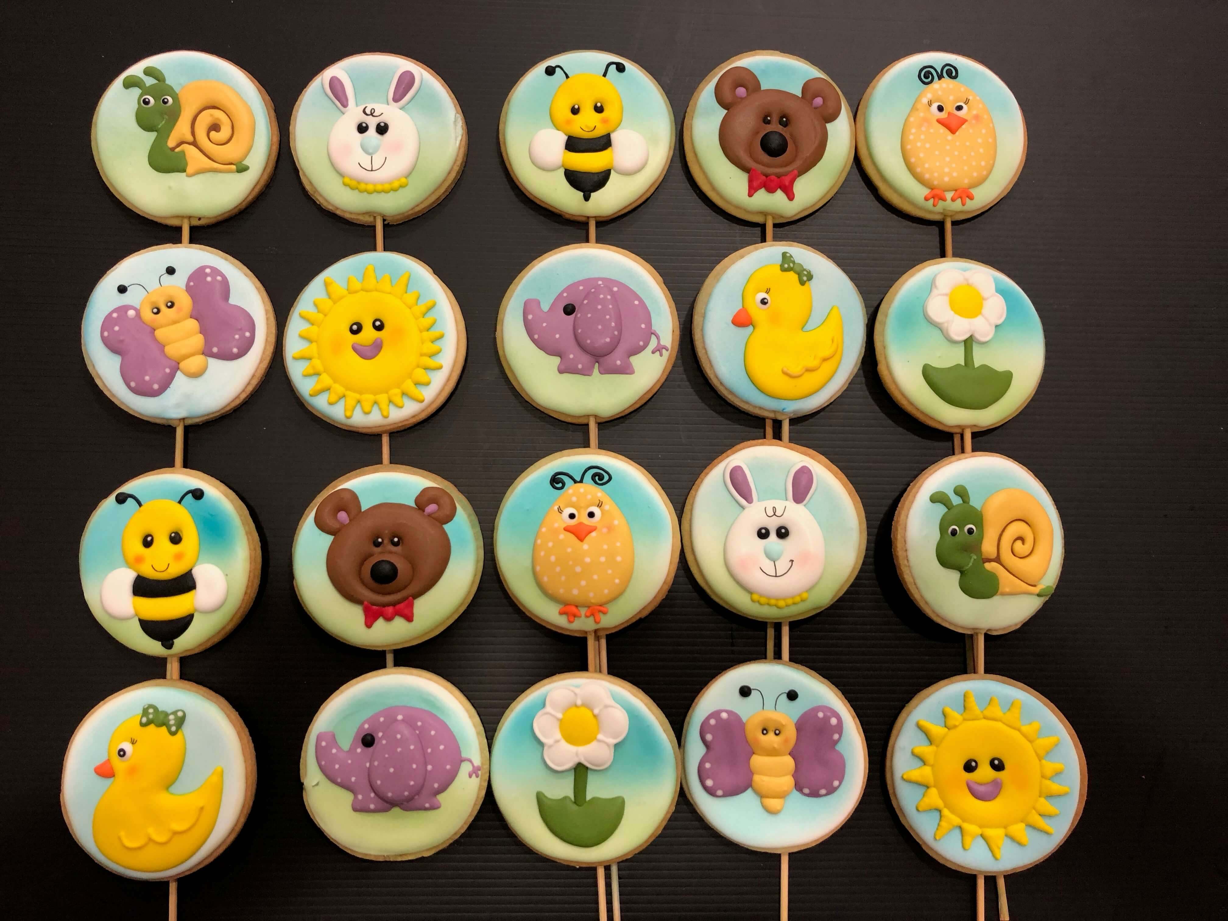 Galletas decoradas personalizadas animales animalito pollito abeja conejo coruña