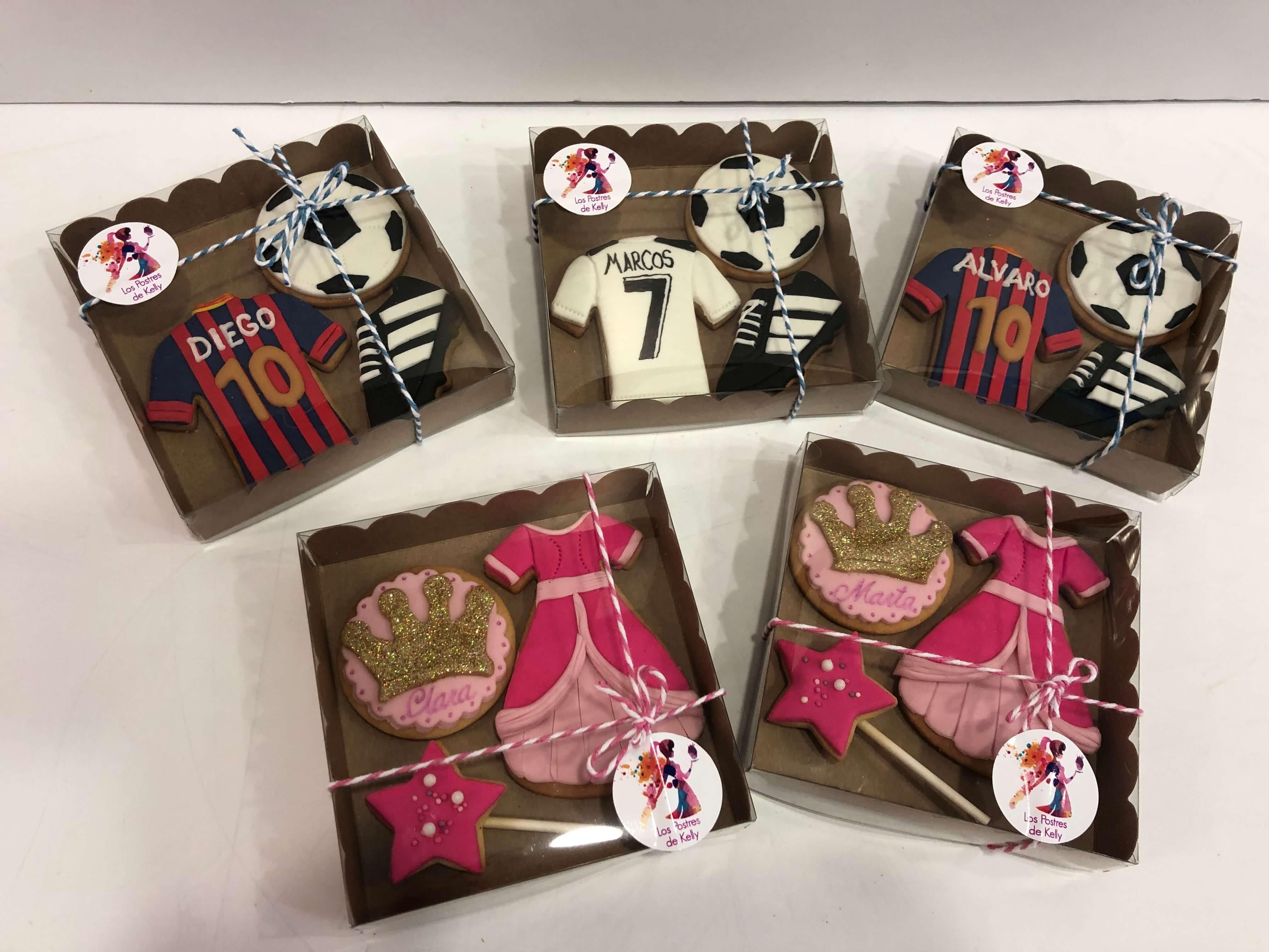 Galletas personalizadas cumpleaños futbol deportes y princesas coruña