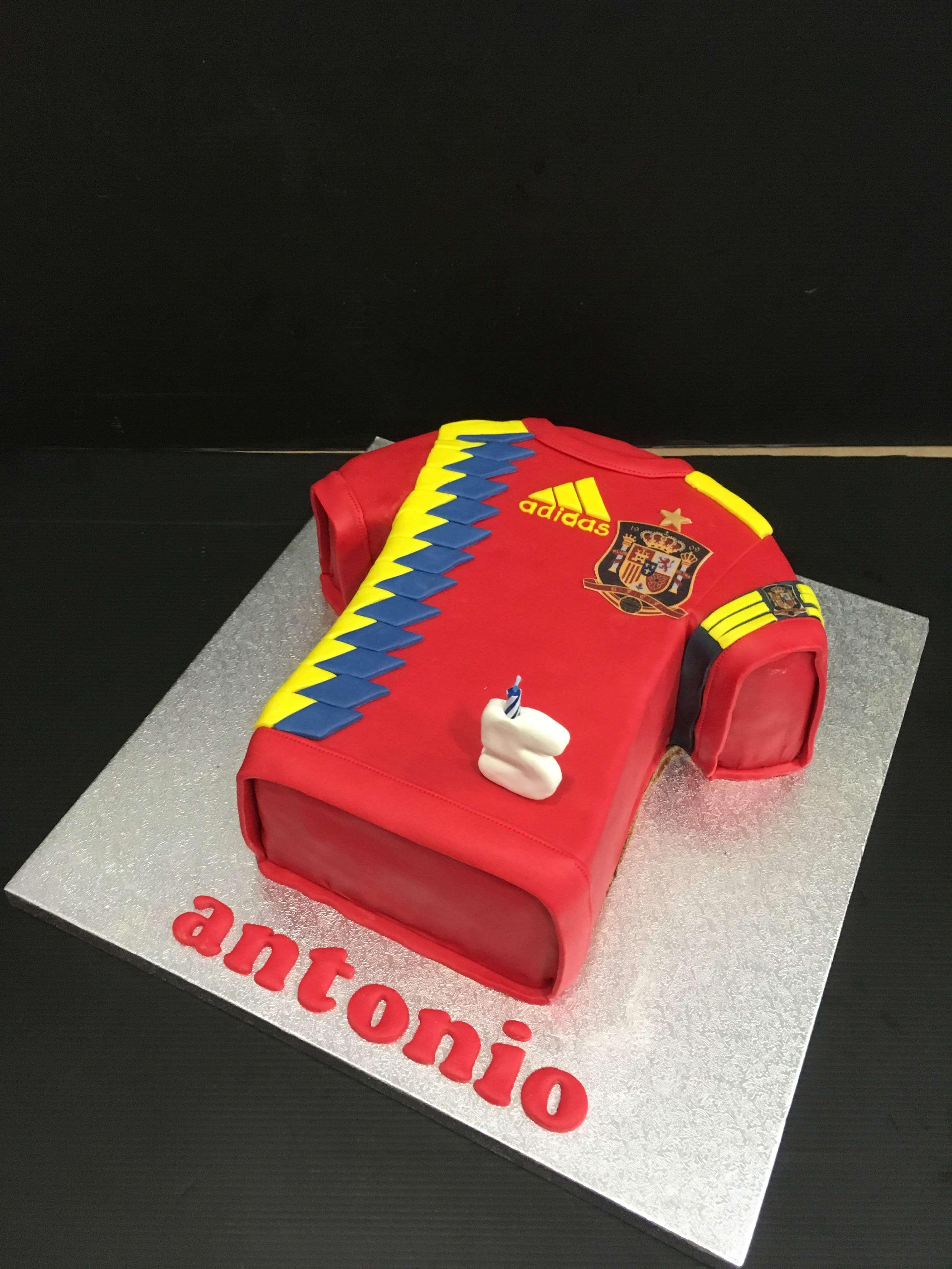 Tarta cumpleaños camiseta futbol España coruña