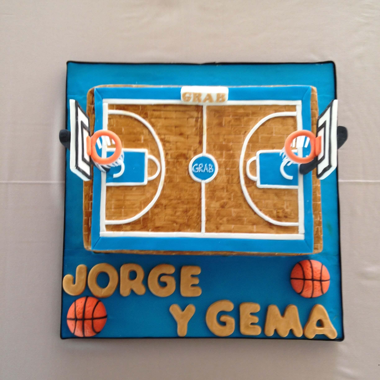 Tarta cumpleaños baloncesto coruña