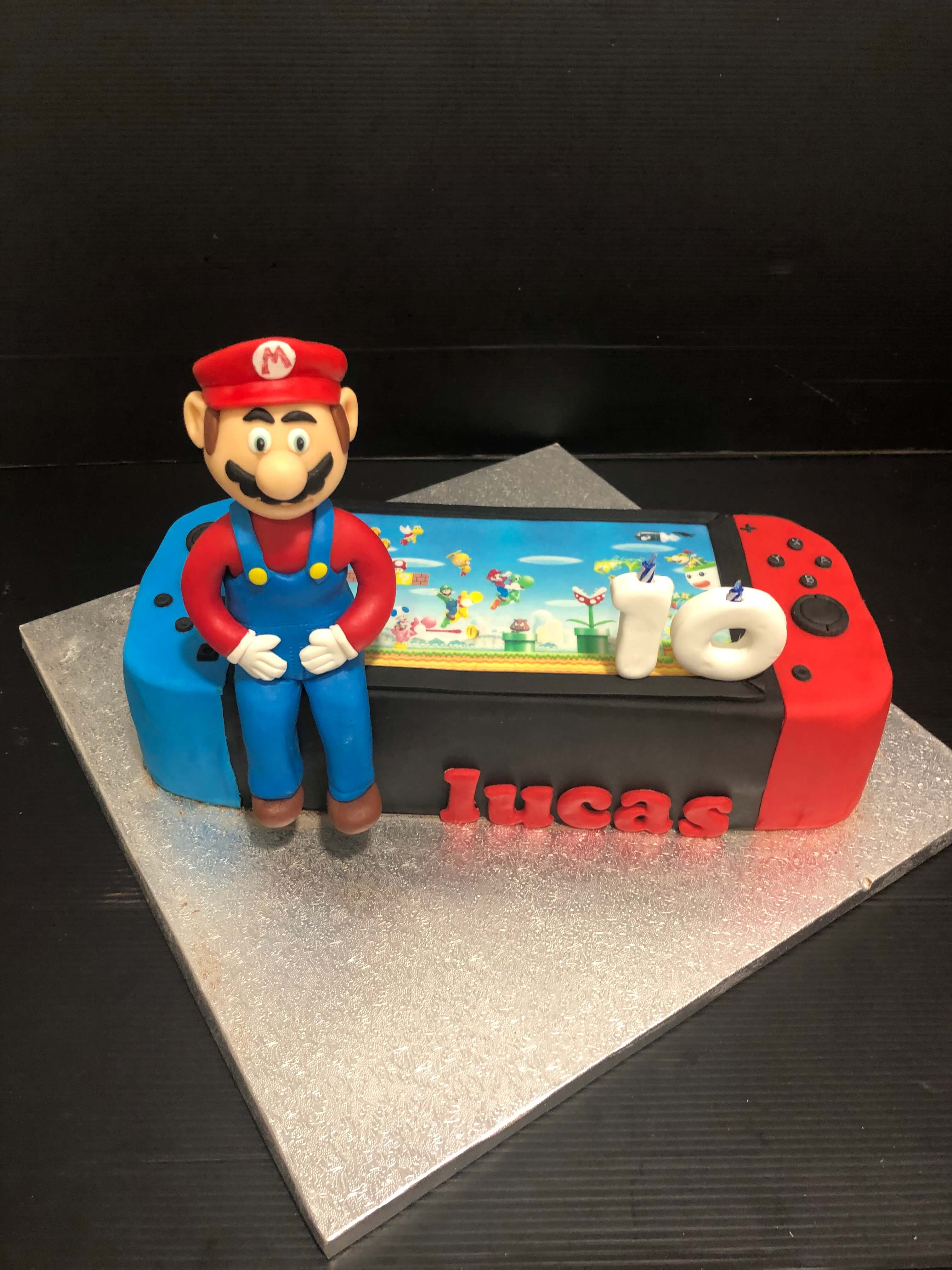 Tarta fondant Nintendo Switch Super Mario
