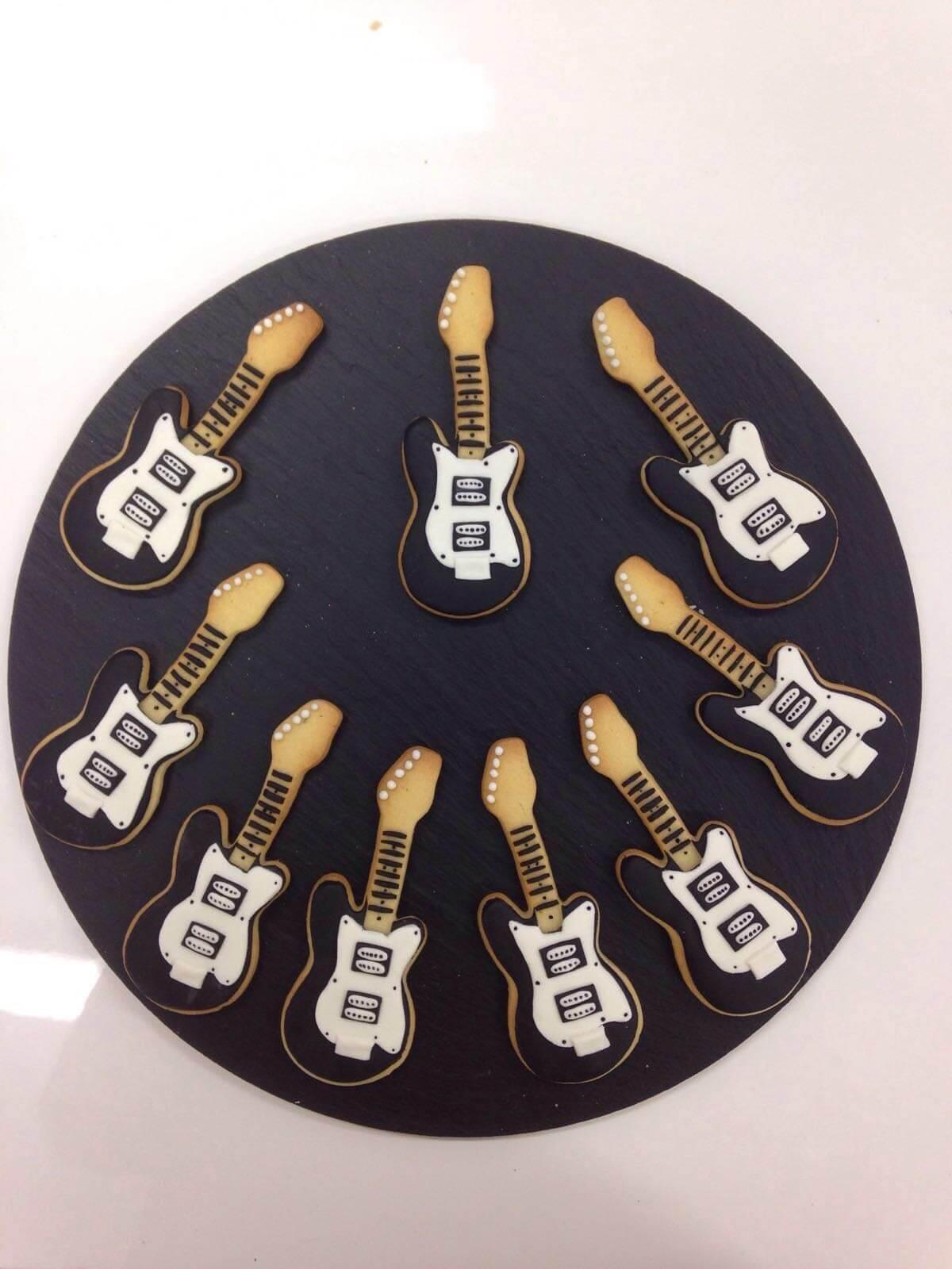 Galletas notas musicales guitarra coruña
