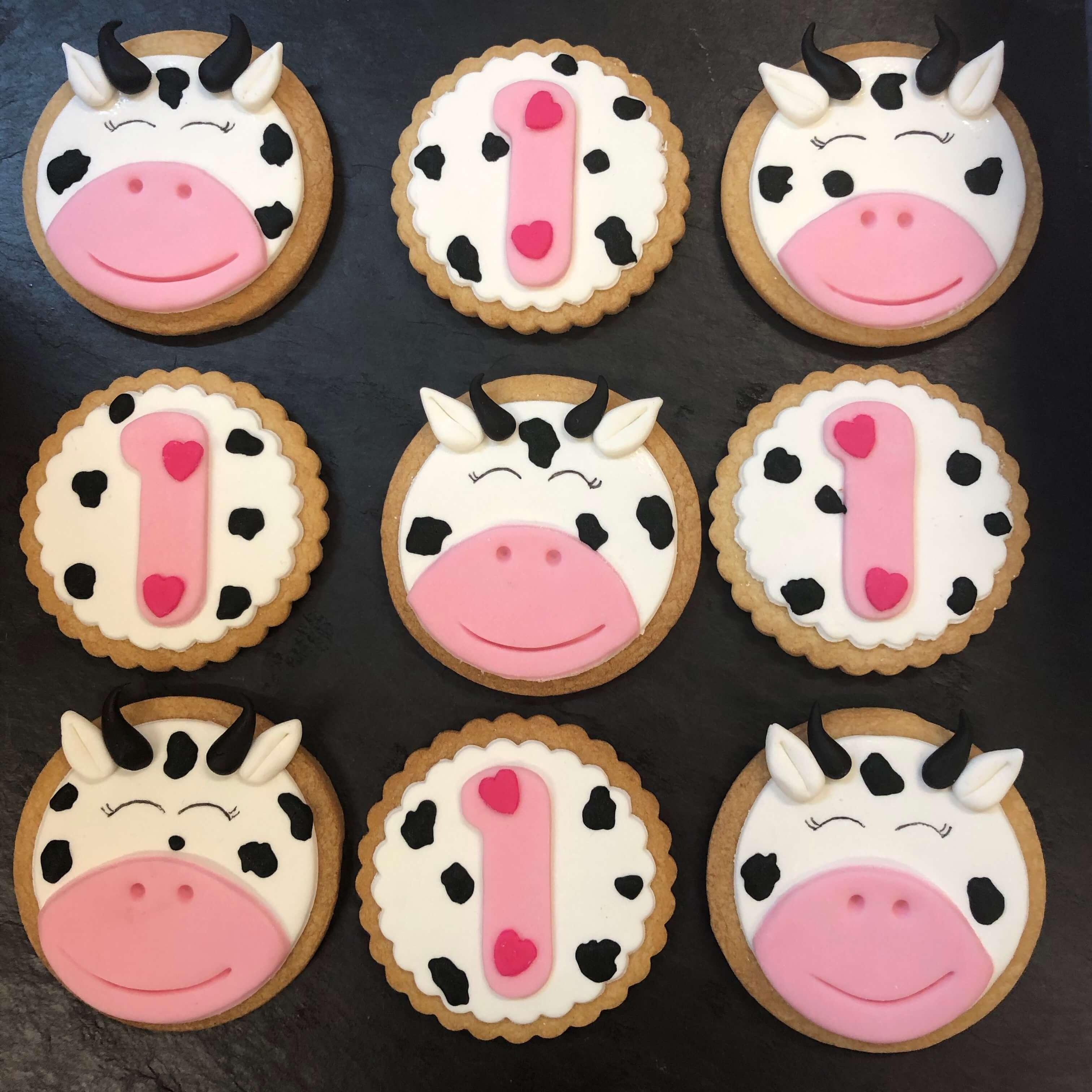 galletas primer cumpleaños vacas vaquilla coruña