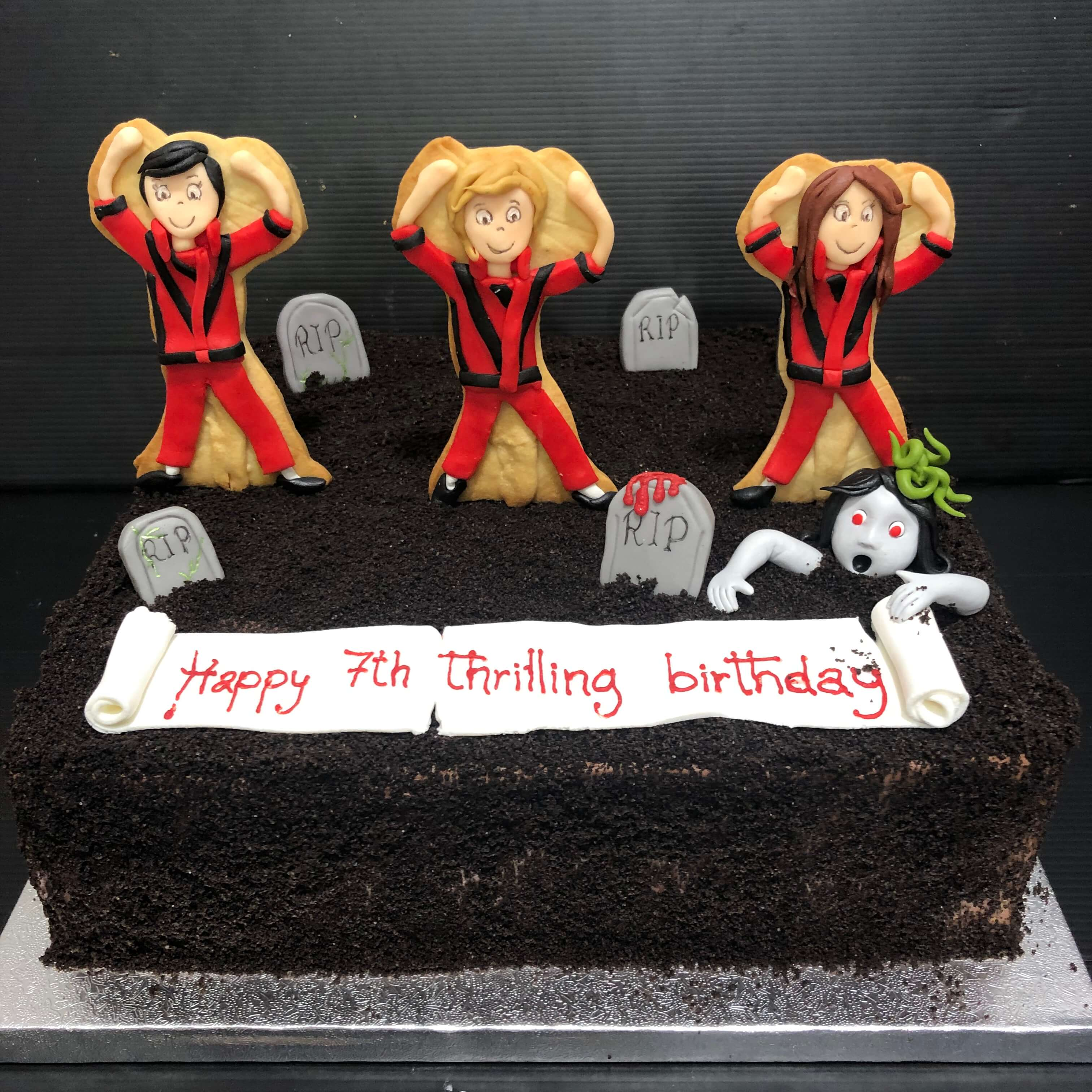 tarta cumpleaños Michael Jackson  musica cementerio fondant coruña