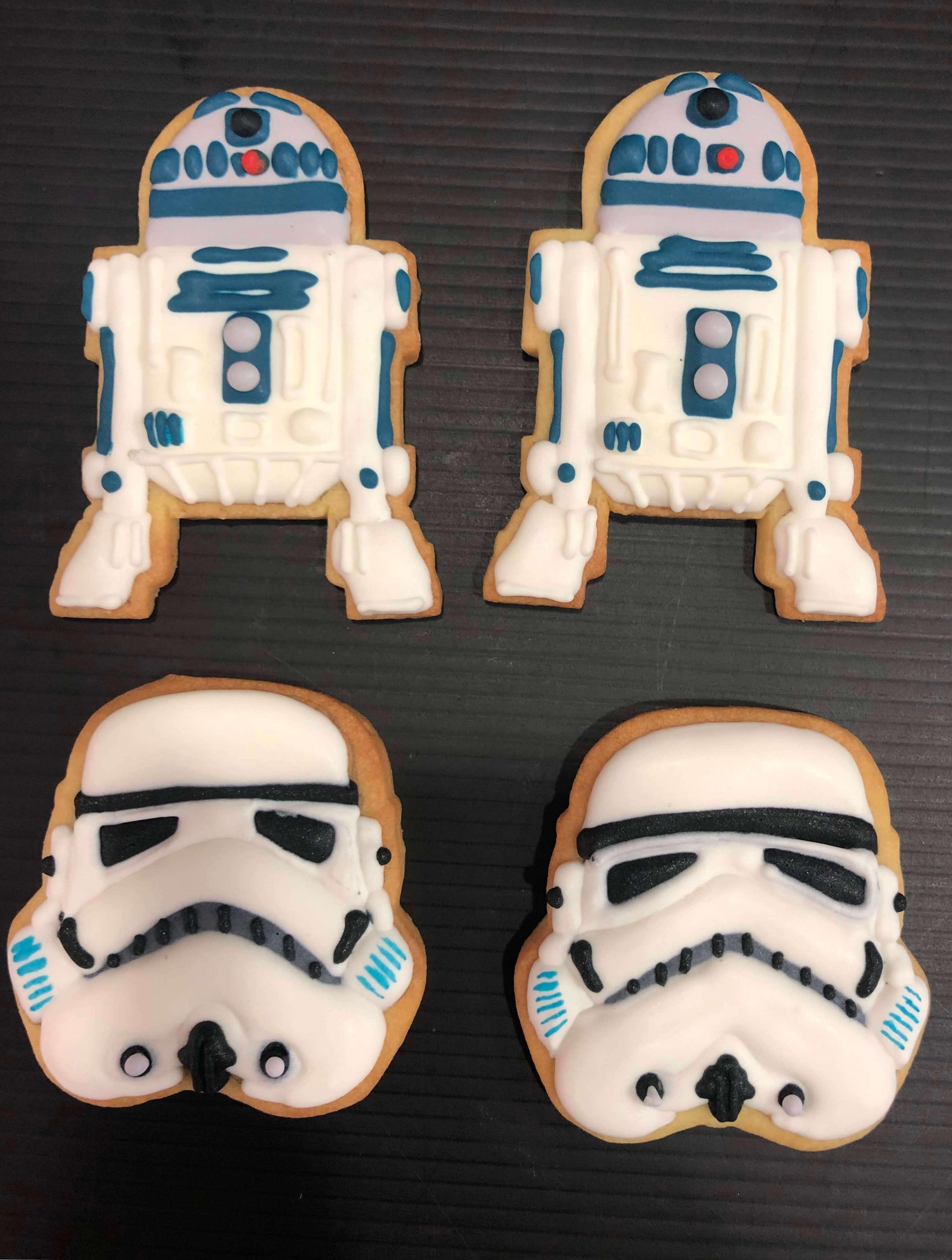 galletas decoradas soldado imperial R2D2 Star Wars cumpleaños decoradas coruña BB8 Darth Vader