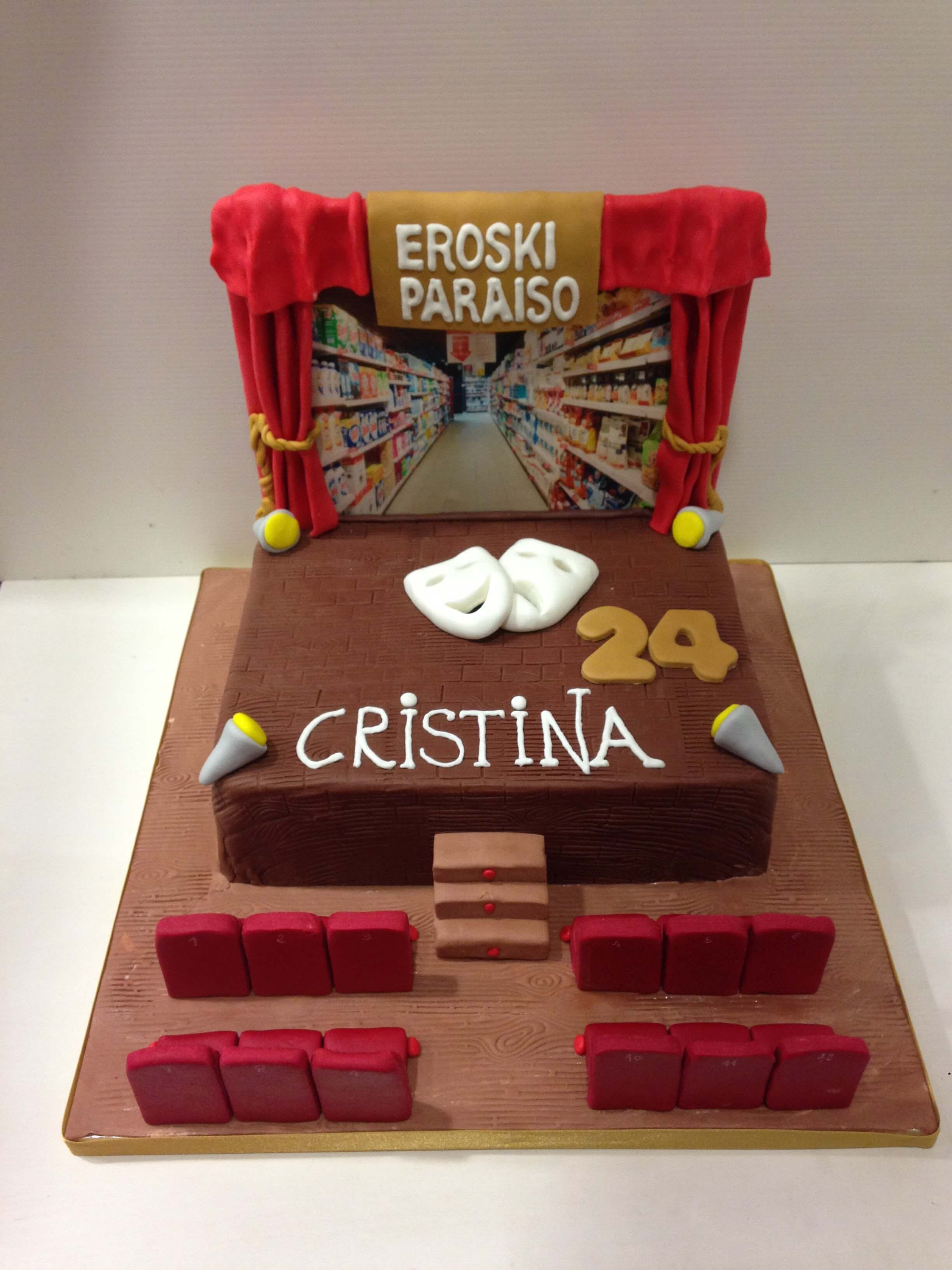 tarta personalizada cumpleaños eroski paraíso teatro coruña