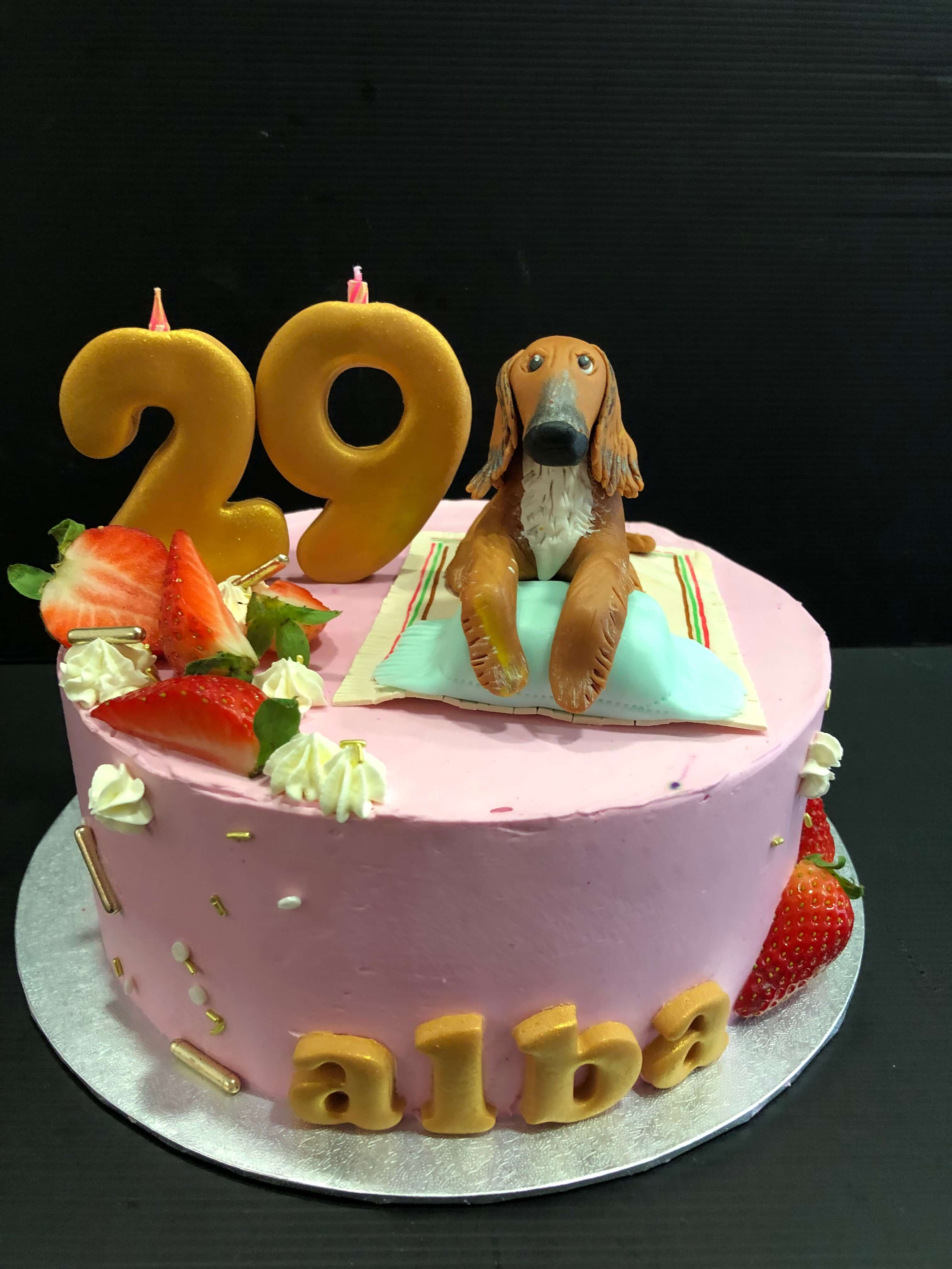 tarta cumpleaños perro