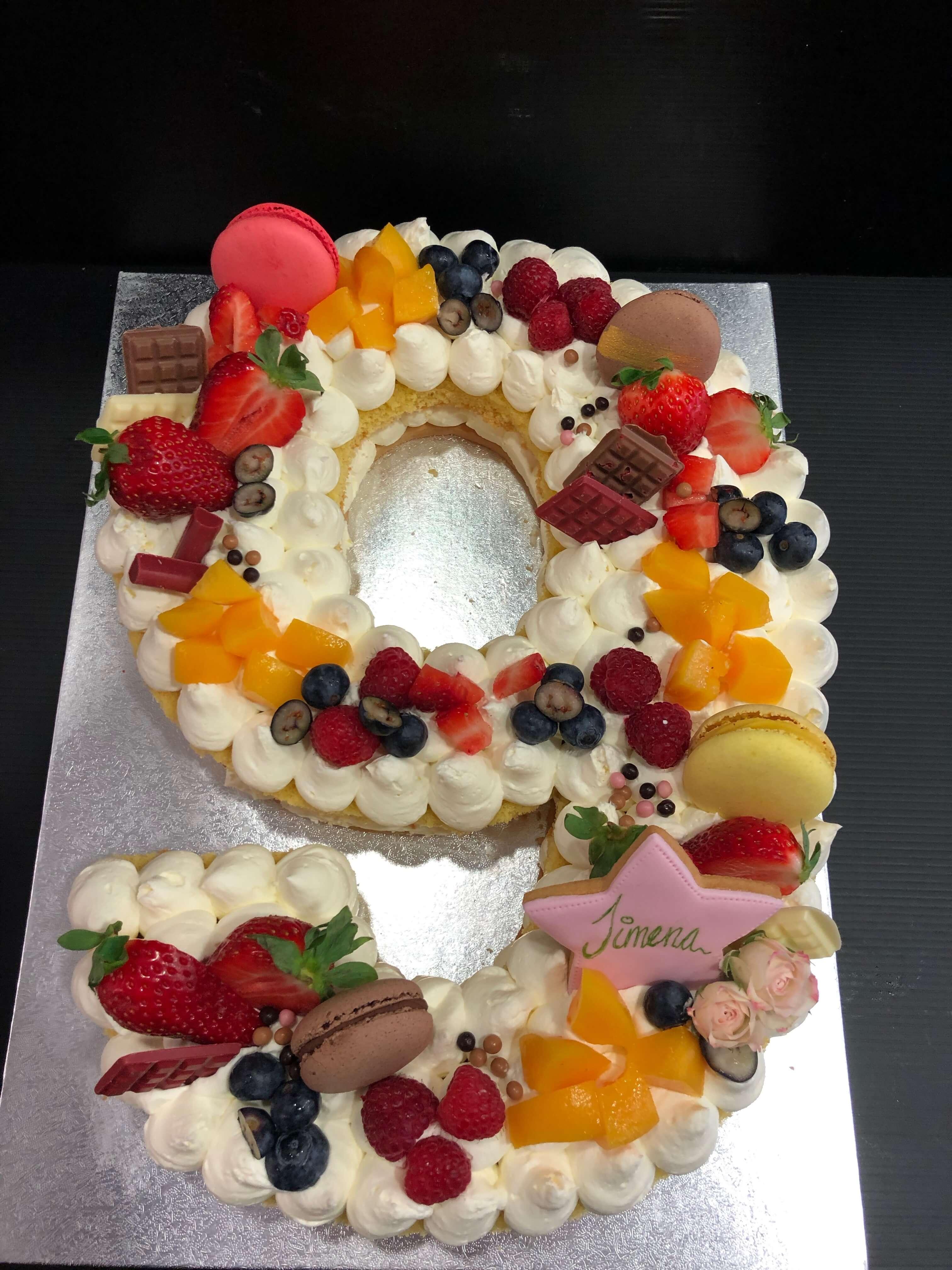 letter cake tarta Numeros o letras cumpleaños coruña personalizada  letras y